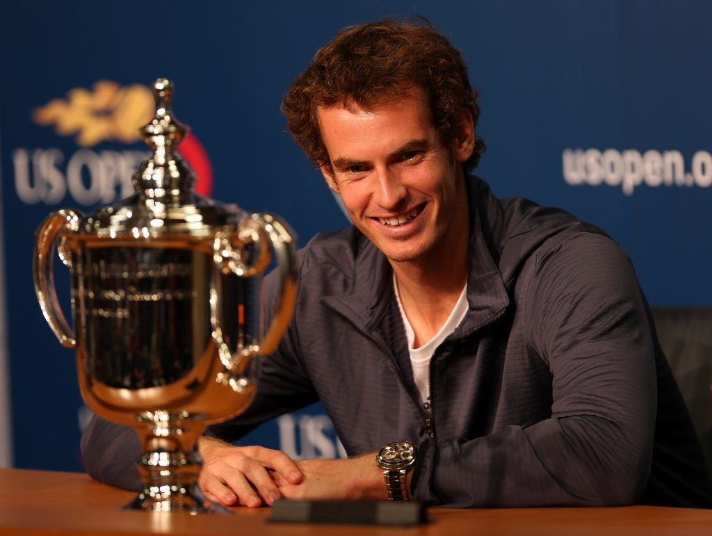 Andy after his 2012 US Open win (Clive Brunskill/Getty Images)