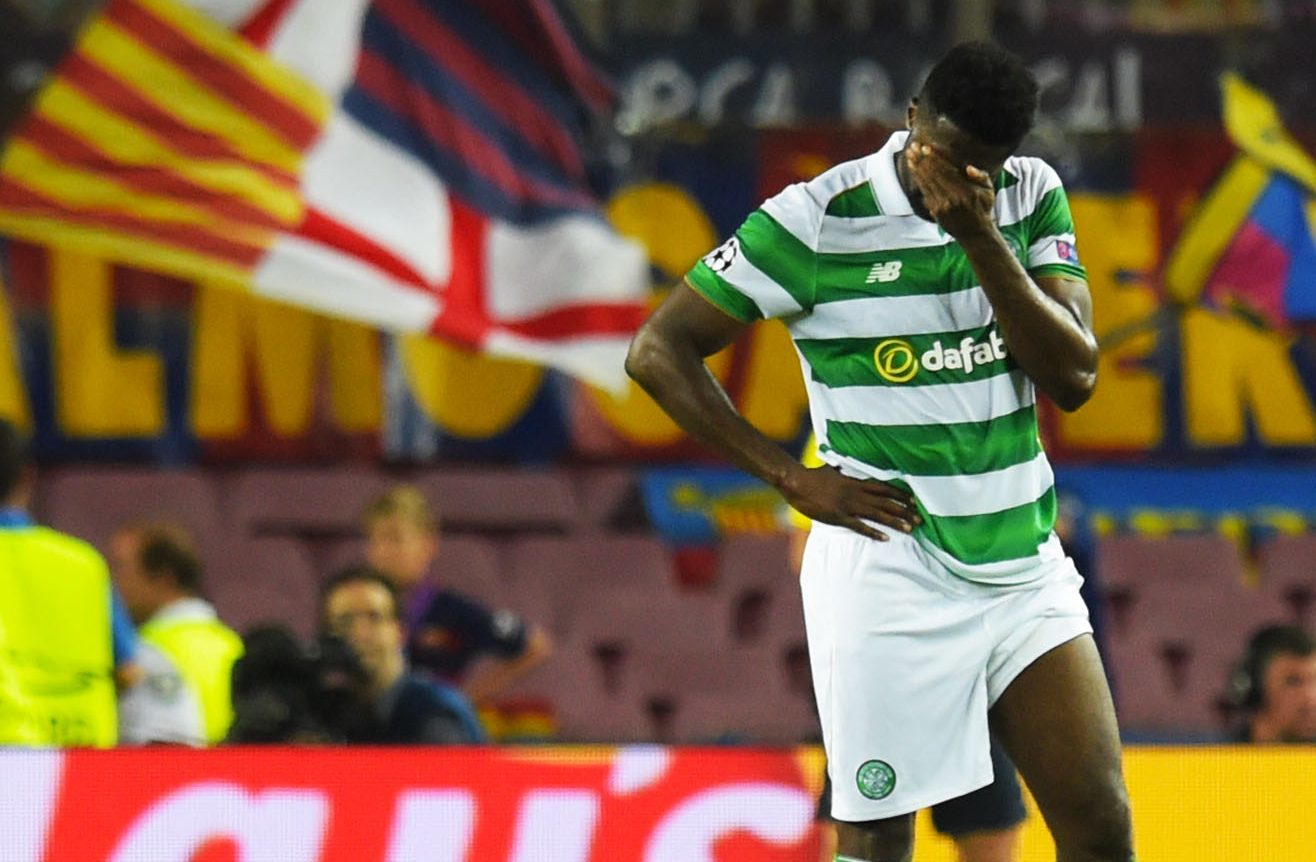 Celtic's Kolo Toure at full time in the Nou Camp (SNS Group)