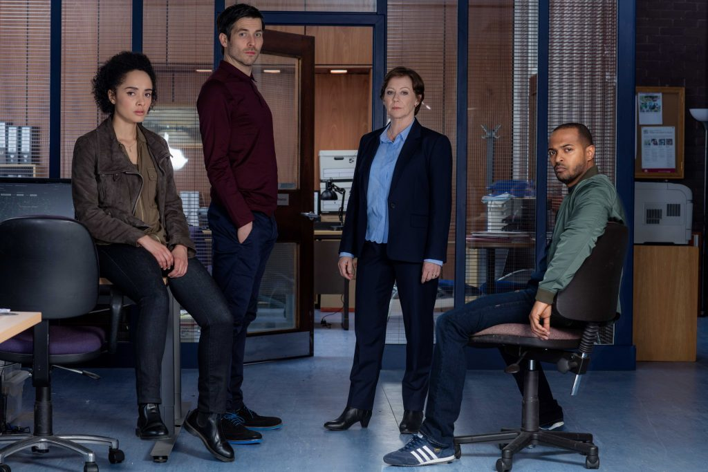 The Level cast (L-R) Karla Crome, Robert James Collier, Lindsey and Noel Clarke (ITV)