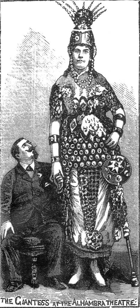 Tales of a giant lady and sleepwalkers entertained the Victorian people.