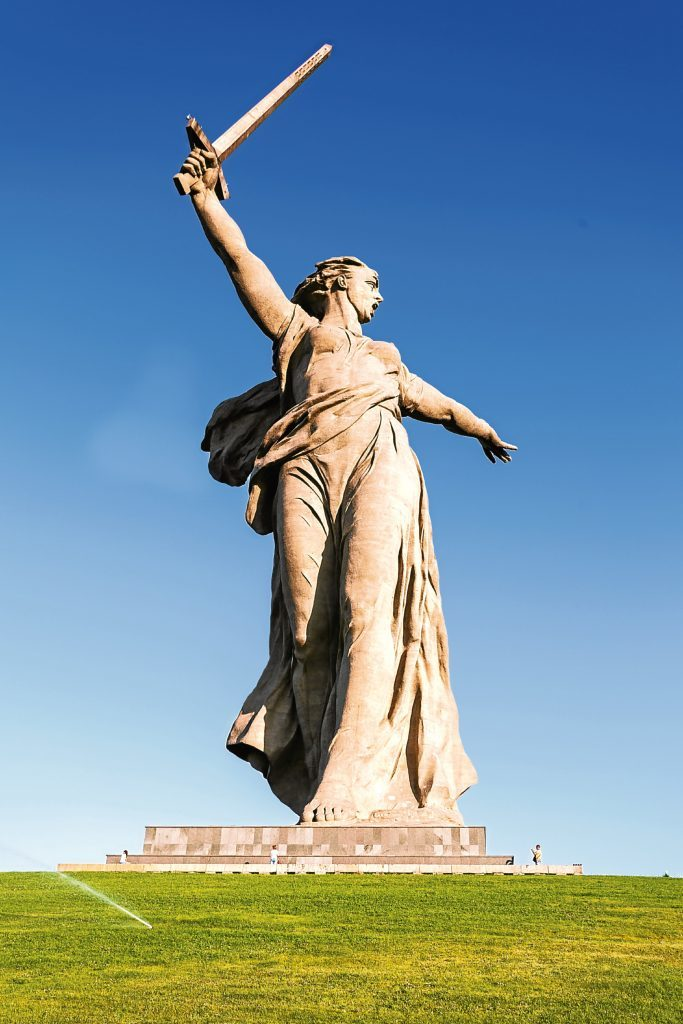 """Motherland calls"" memorial in Volgorad (Getty Images)"