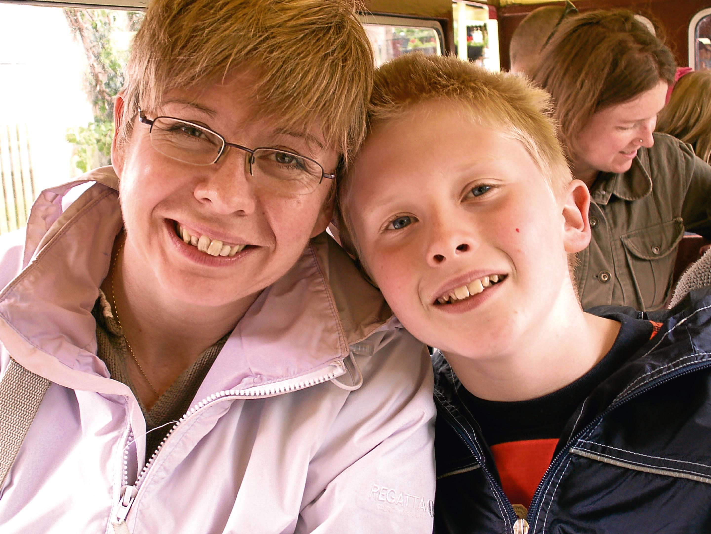 Kim Macleod has helped raise more than £60,000 for Meningitis Now in memory of her son Calum