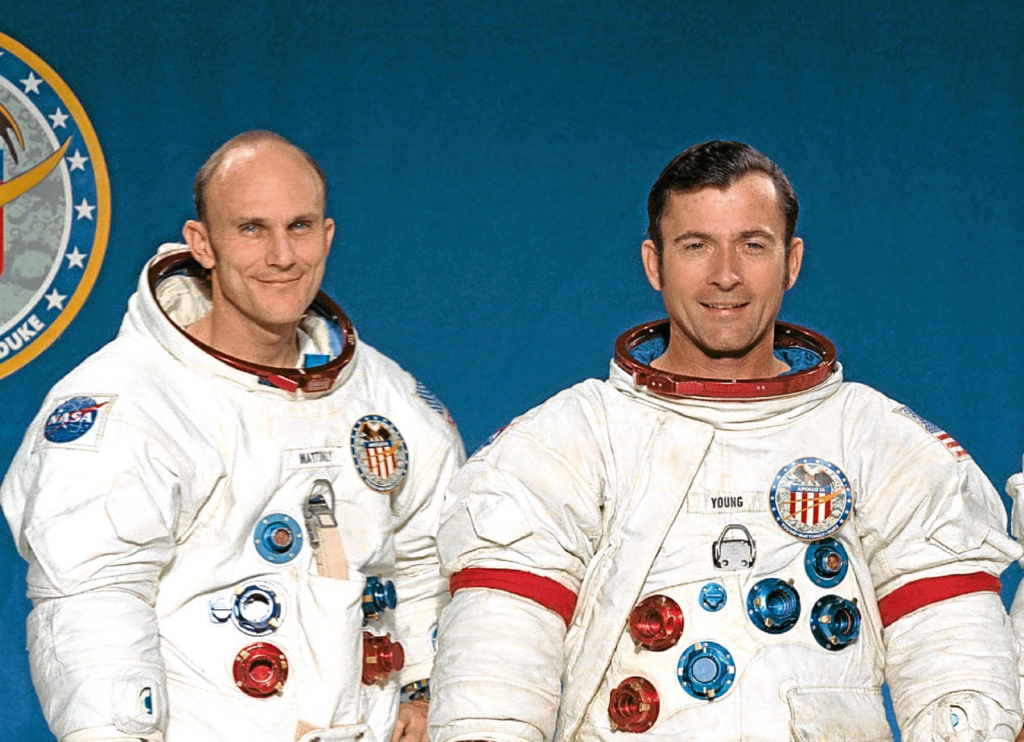 Ken (left), pictured with John Young.