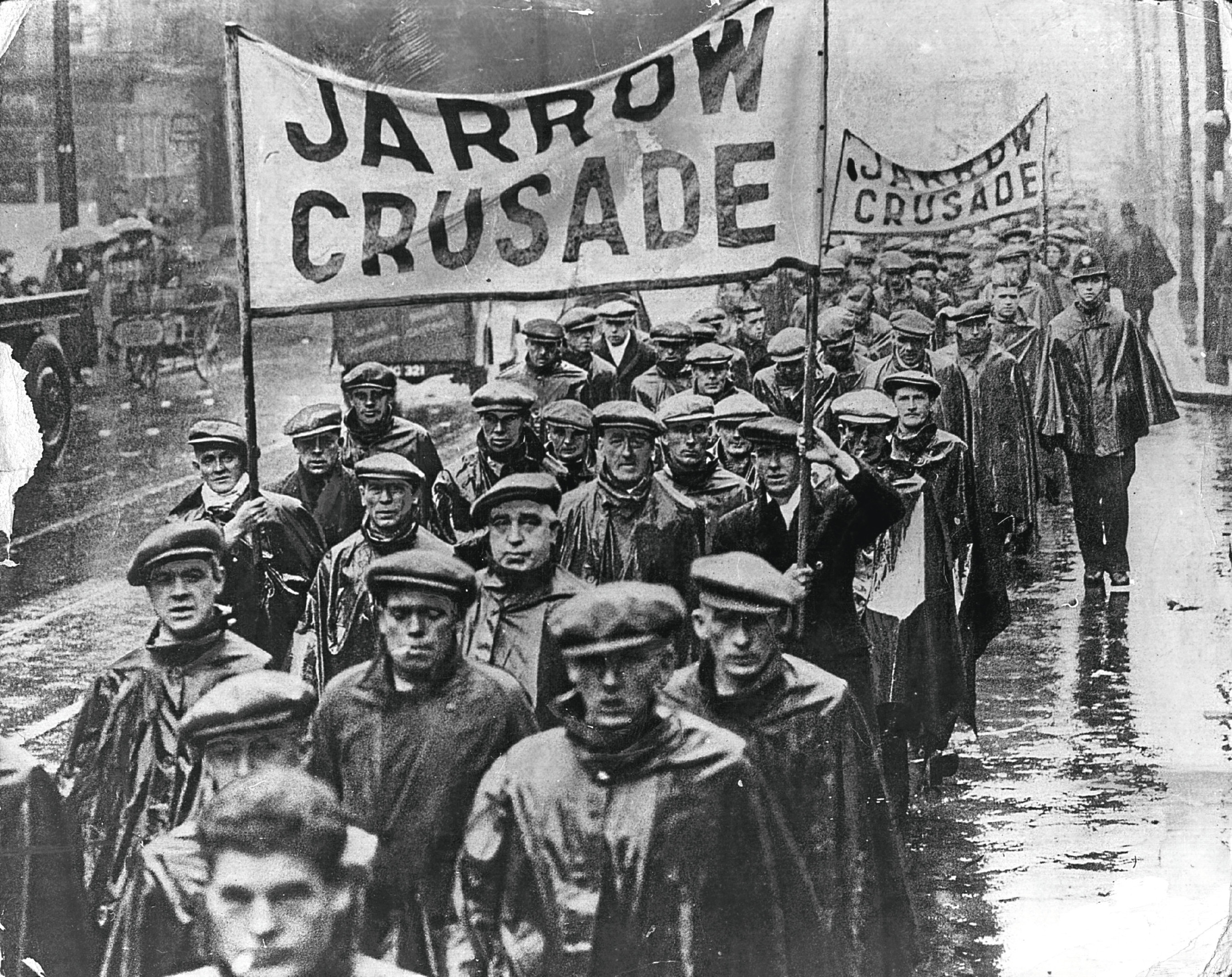 Protest marchers on the Jarrow Crusade (Keystone/Getty Images)