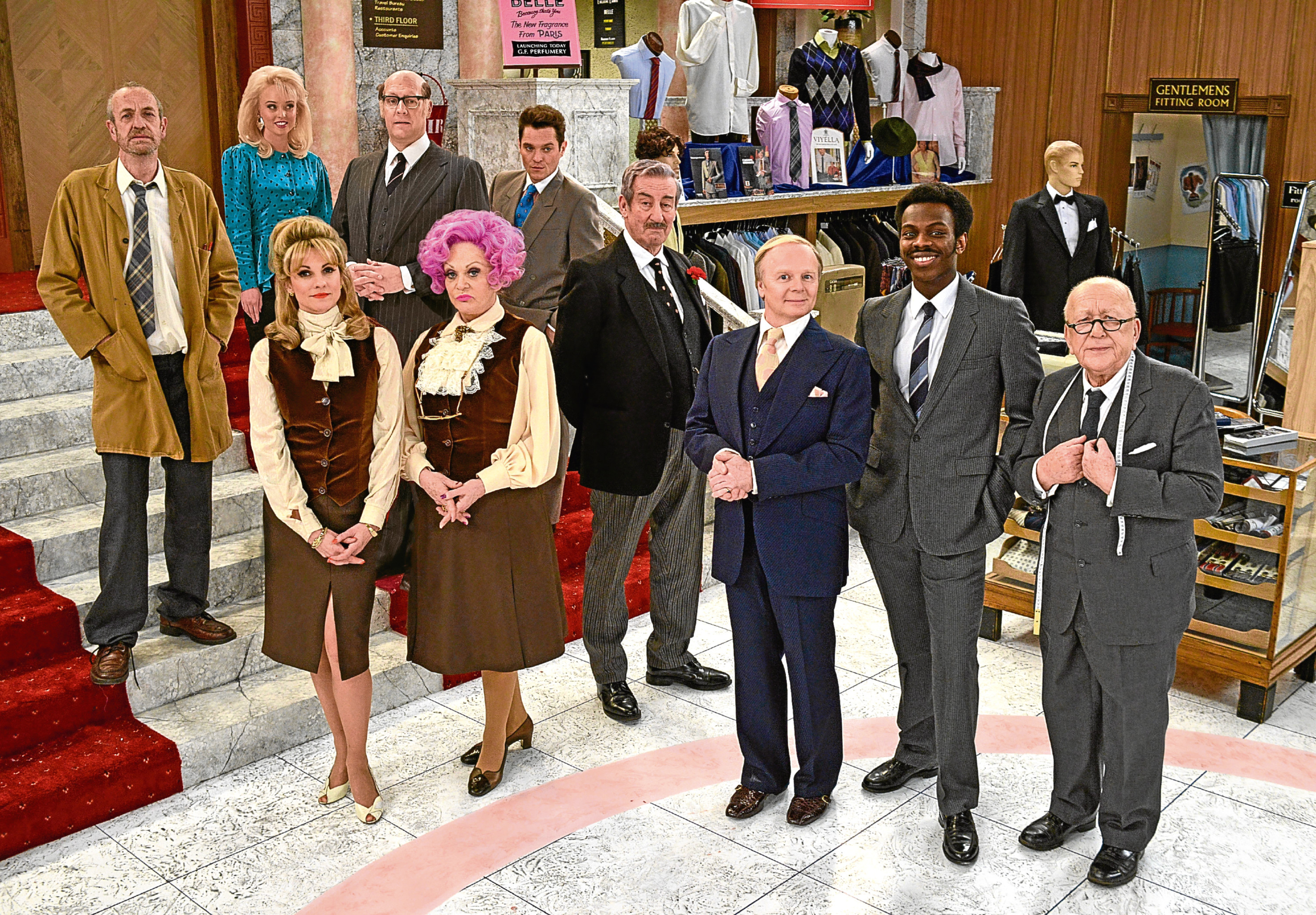The cast of the Are You Being Served remake (Kieron McCarron / BBC)