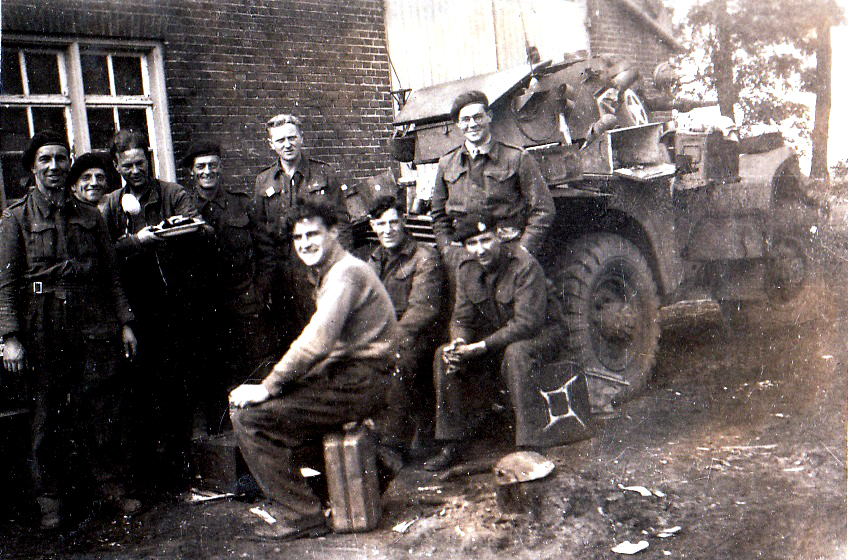 A war time photo of Angus Mitchell (right, standing), who has received the Legion D'honneur in Edinburgh this weekend for his heroism in WW2 (SWNS)