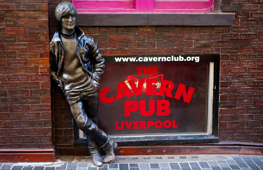 John Lennon statue in Liverpool outside the historic Cavern Club (Getty)