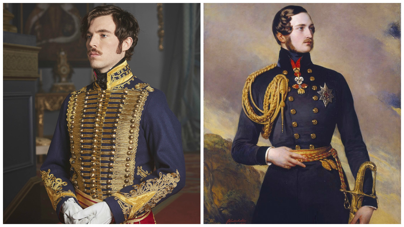 Prince Albert (Left: Tom Hughes as Prince Albert, from Queen Victoria by ITV; Right: Prince Albert)