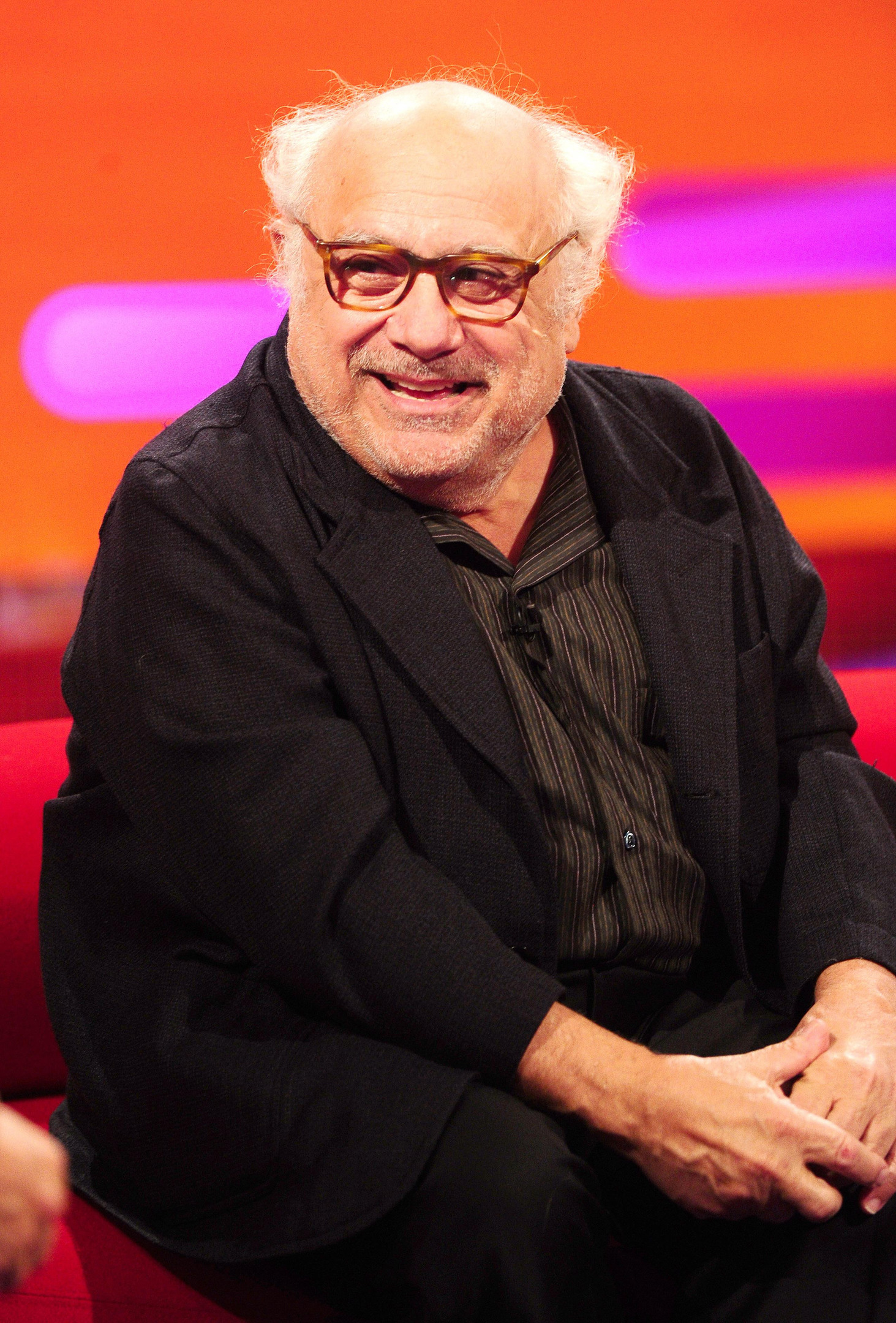 Danny Devito during filming of The Graham Norton Show