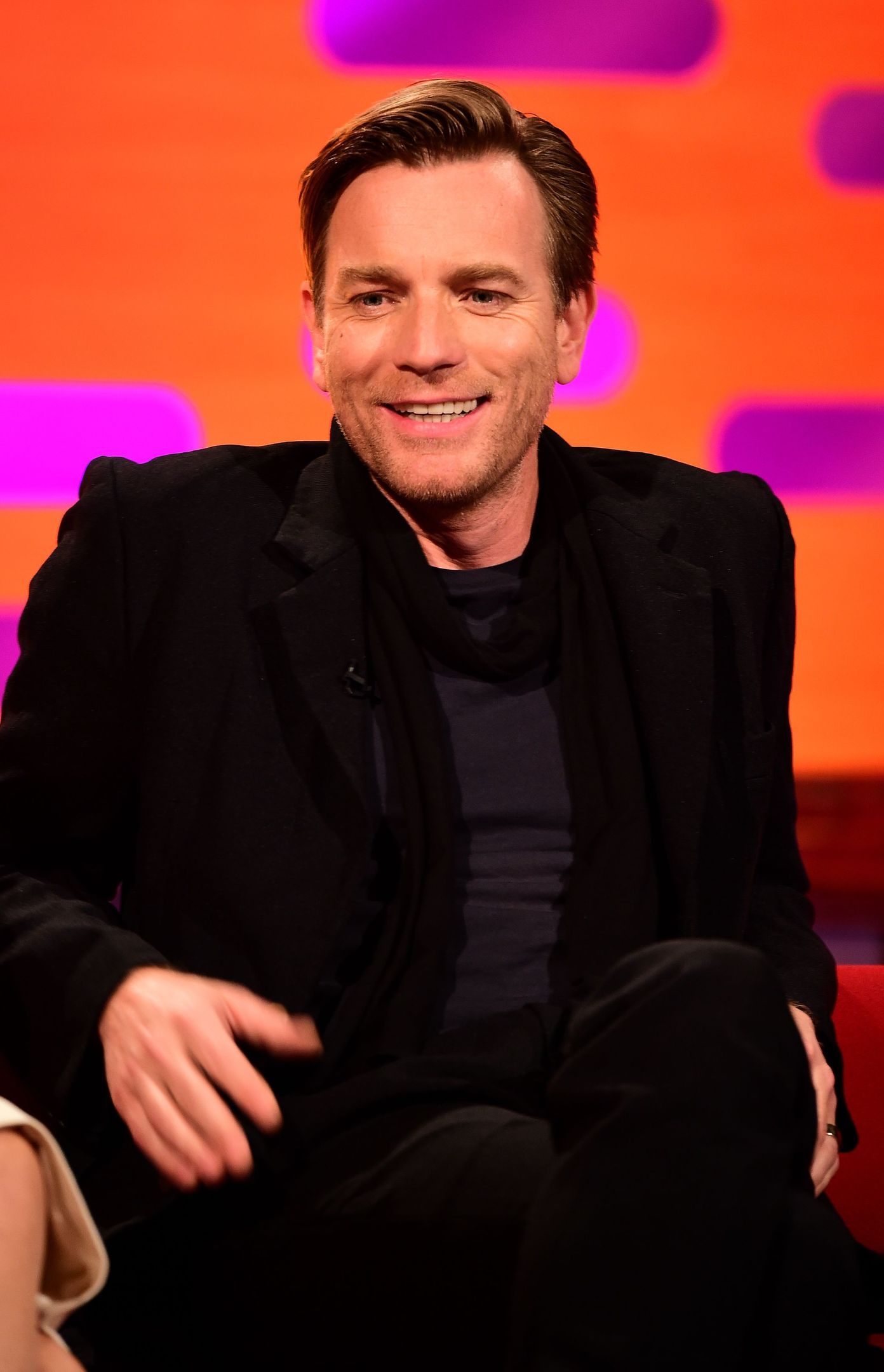 Ewan McGregor during the filming of the Graham Norton Show (Ian West/PA)
