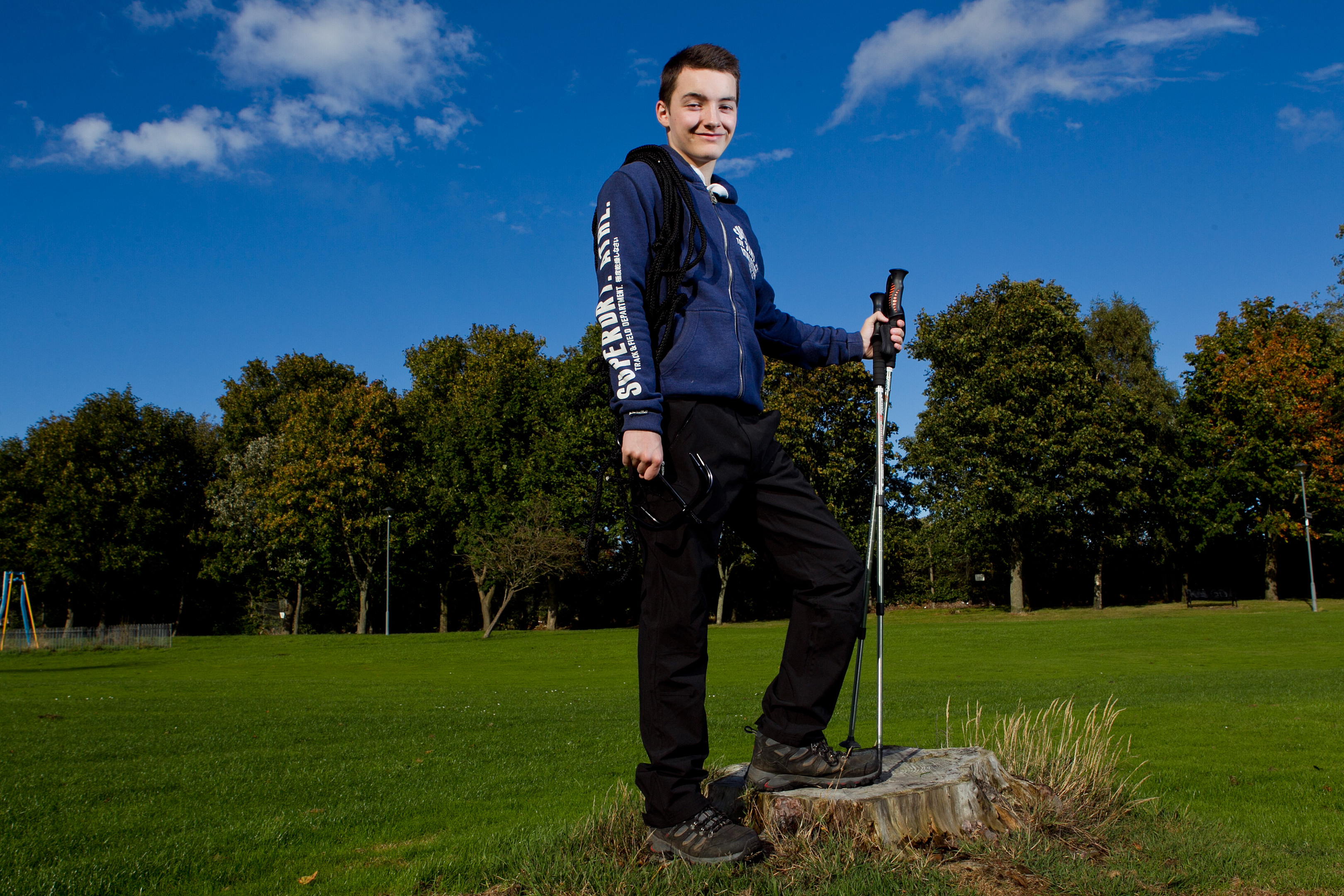 15 year old Ryan Hume who is planning to climb Mount Everest (Andrew Cawley/DC Thomson)
