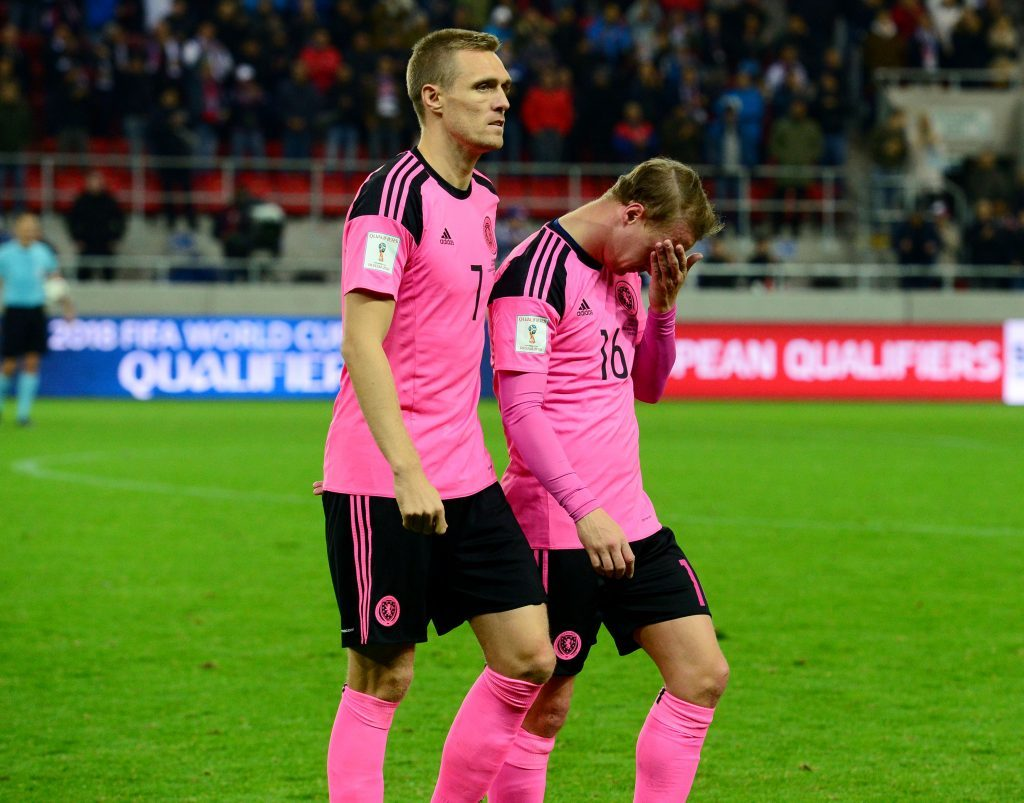Scotland's Darren Fletcher (left) with Griffiths (SNS Group)