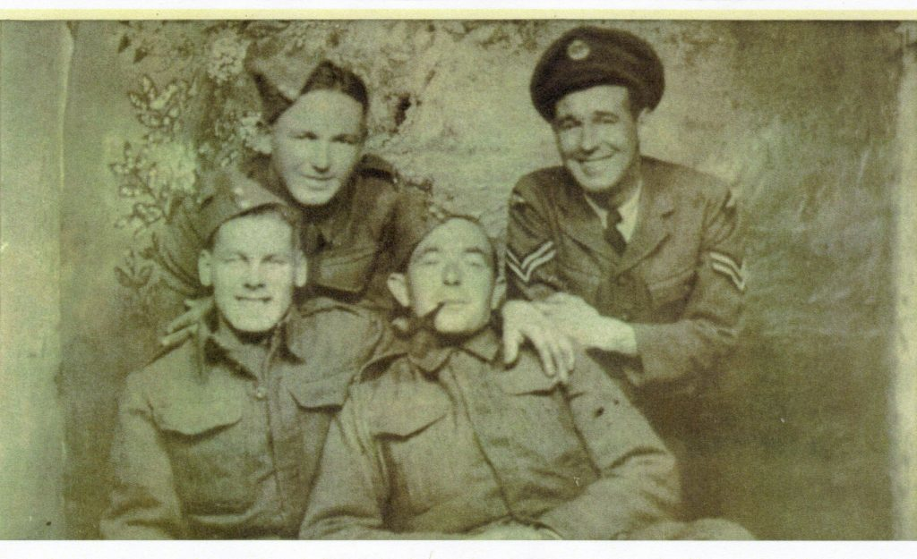 Andrew McMillan Smith Brownlie, top right, who was killed in 1942 and was buried in Sighthill cemetery (Courtesy of great nephew Graeme Hedger)
