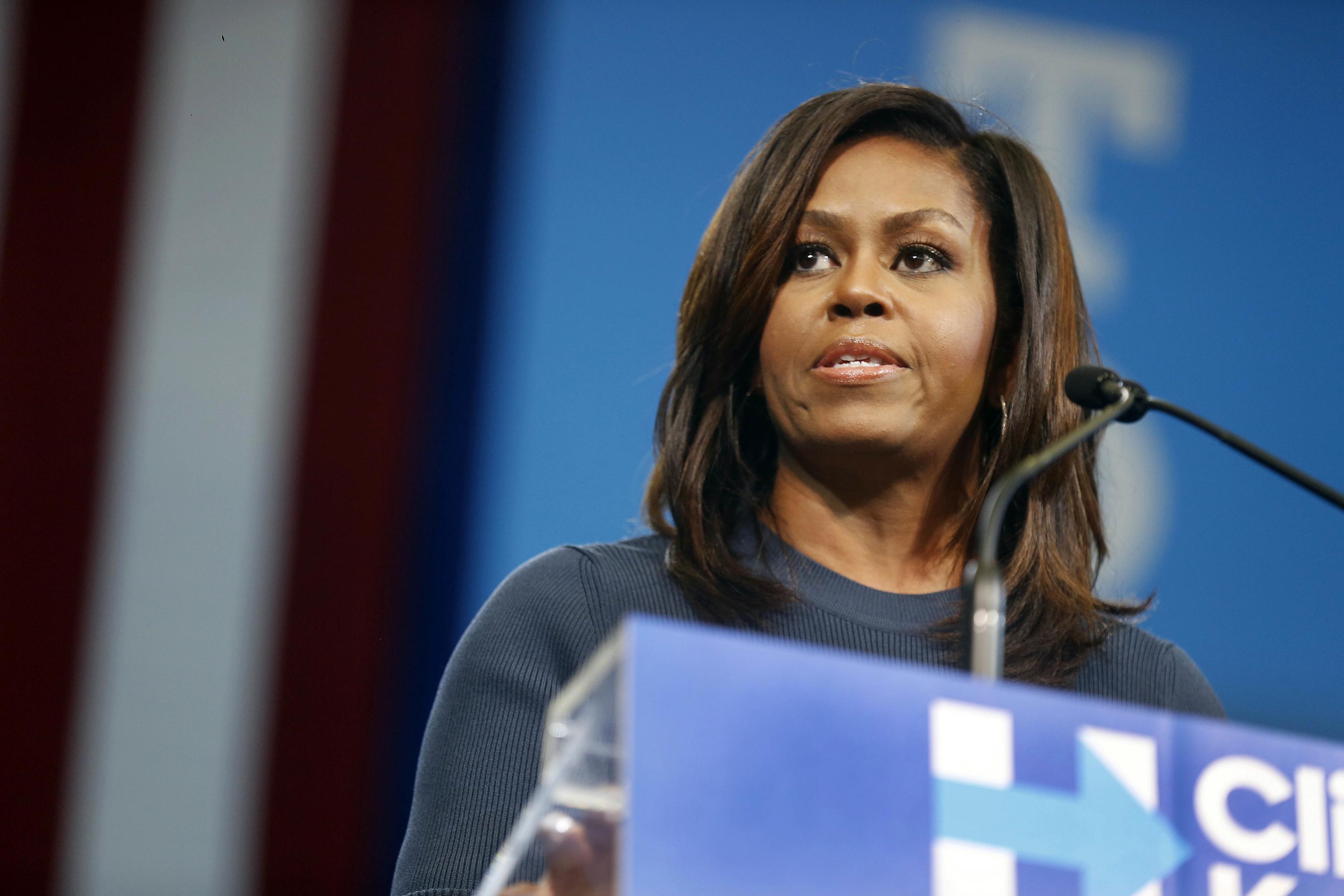 First lady Michelle Obama (AP Photo/Jim Cole)