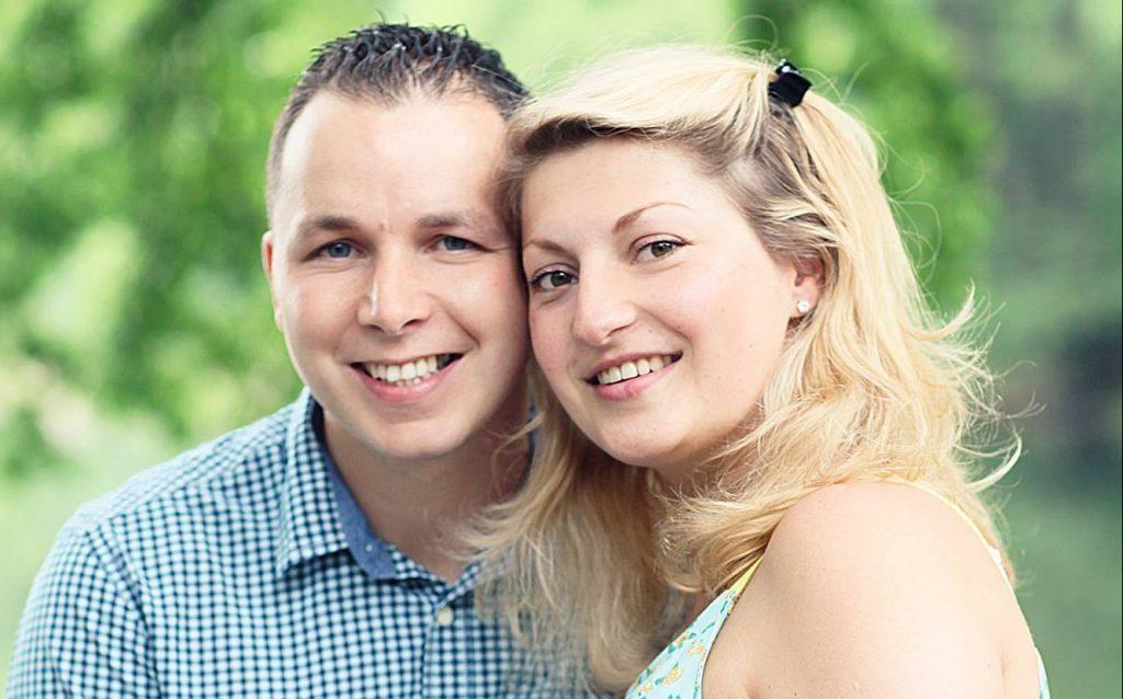 Killer John Leathem with wife Kasia Karbowiak (Facebook)