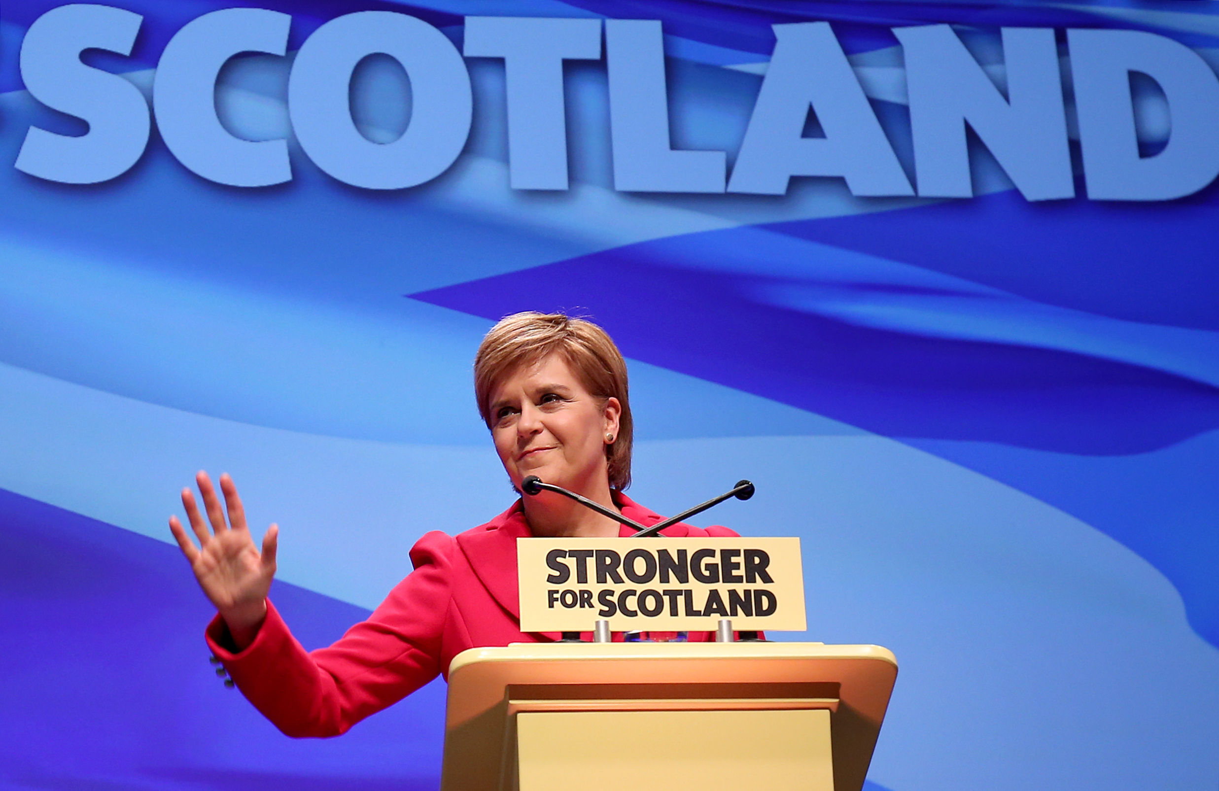 Nicola Sturgeon speaks at the SNP conference in Glasgow (Jane Barlow/PA Wire)