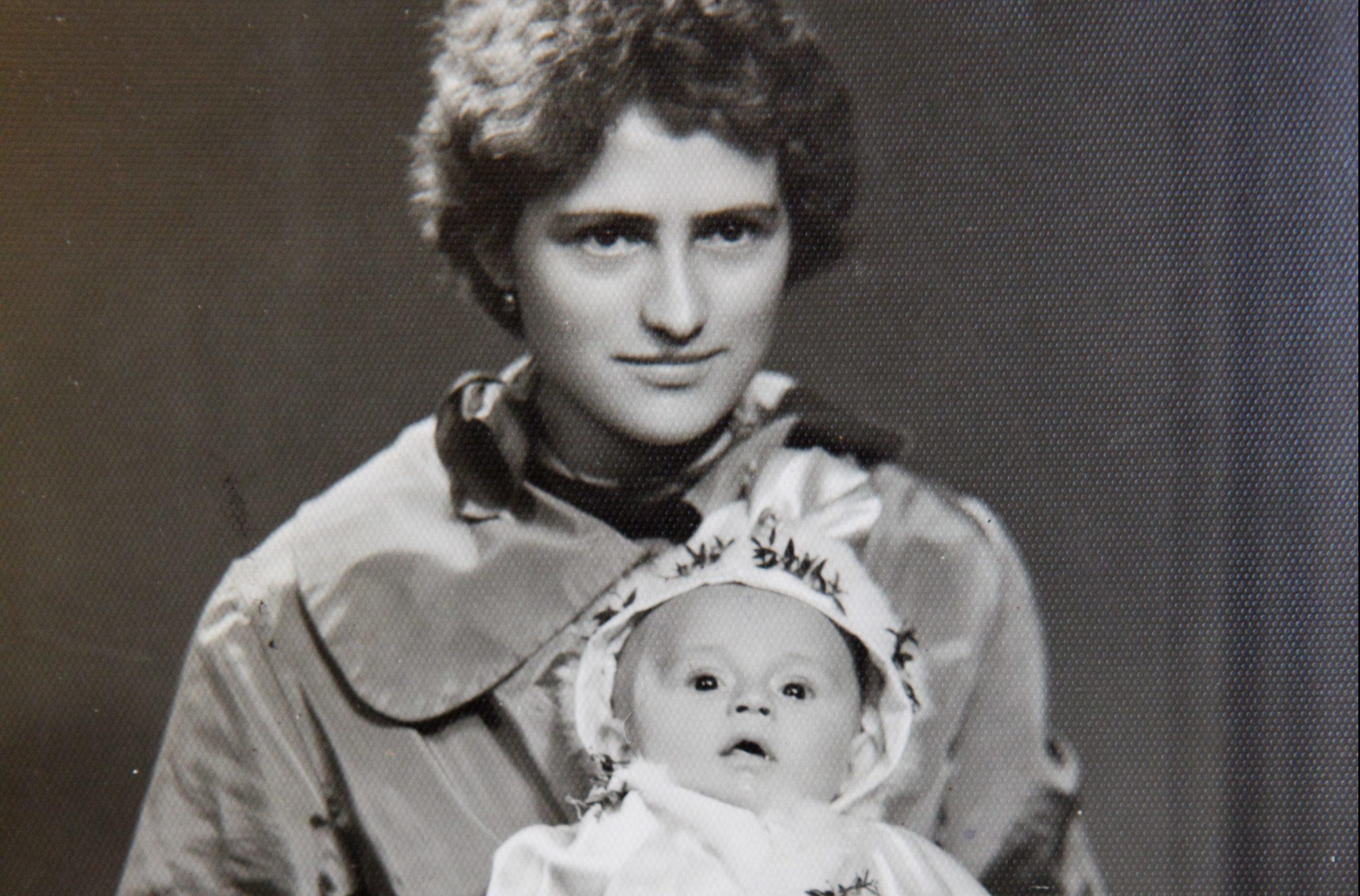 Bronislawa Jakubska with daughter Basia
