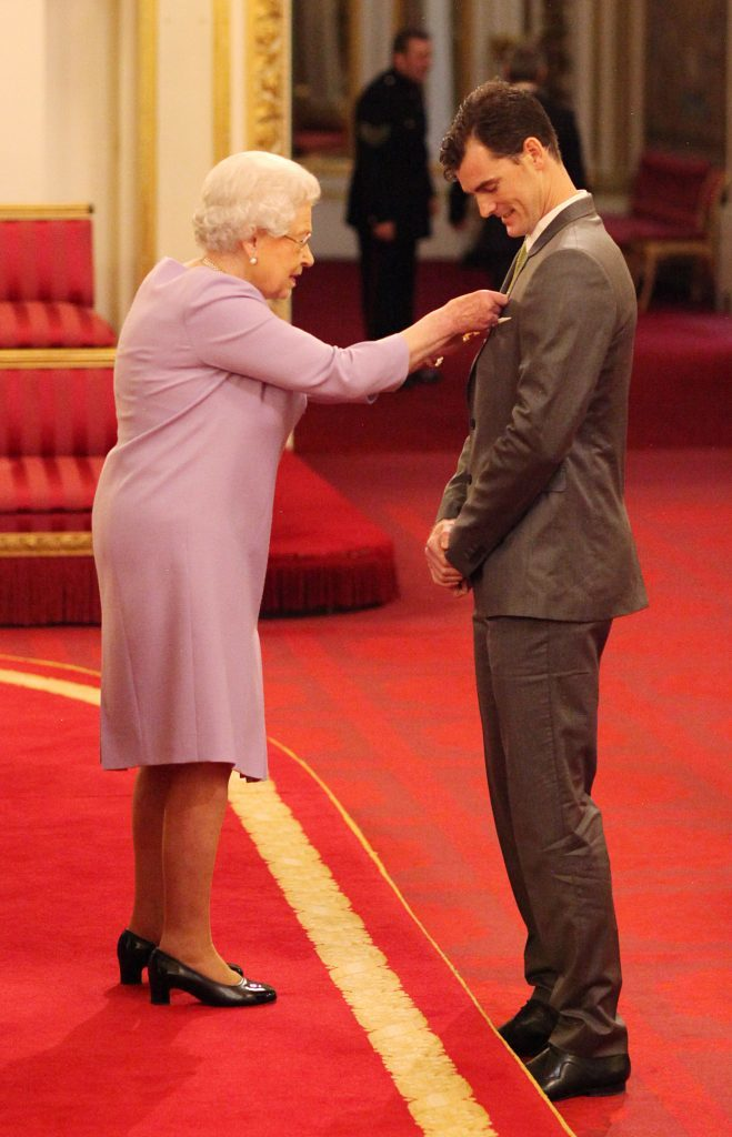 Jamie Murray is made a Officer of the Order of the British Empire (OBE)  by Queen Elizabeth II (Jonathan Brady/PA Wire)