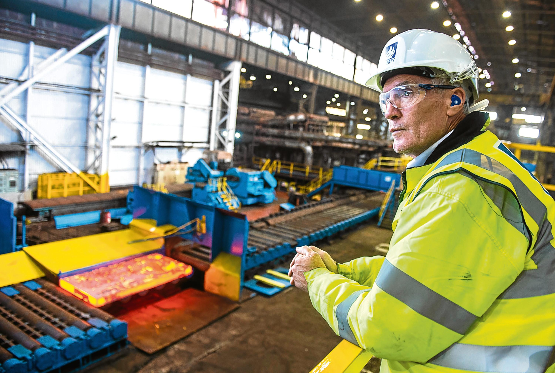 Liberty Steel Dalzell rolling mill in action(Warren Media)