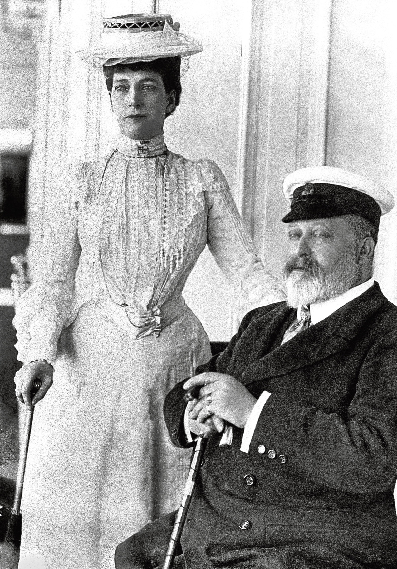King Edward VII and Queen Alexandra at Cowes, Isle of Wight.