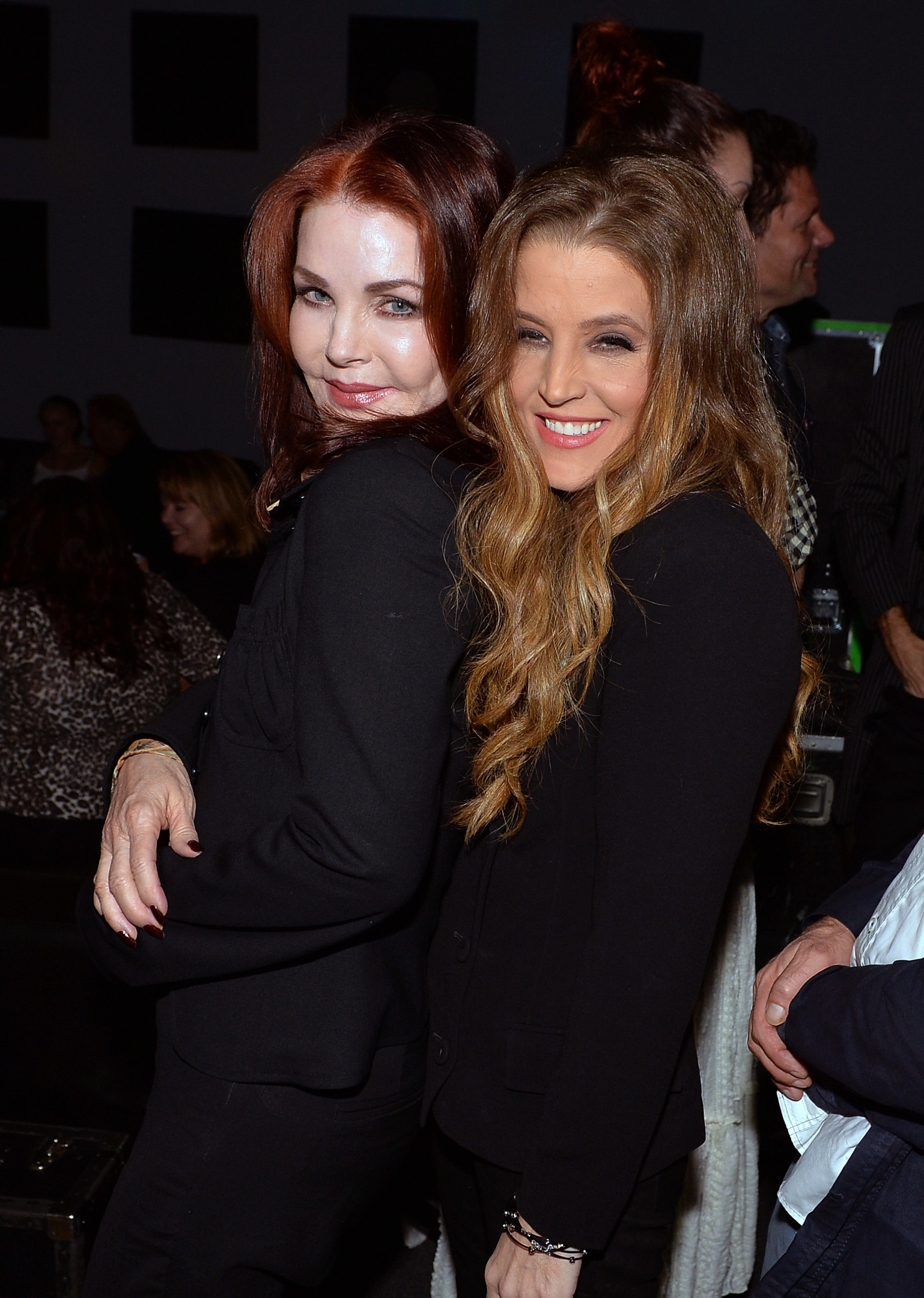 Priscilla Presley with her daughter Lisa Marie Presley (Photo by Rick Diamond/Getty Images for Americana Music Festival)