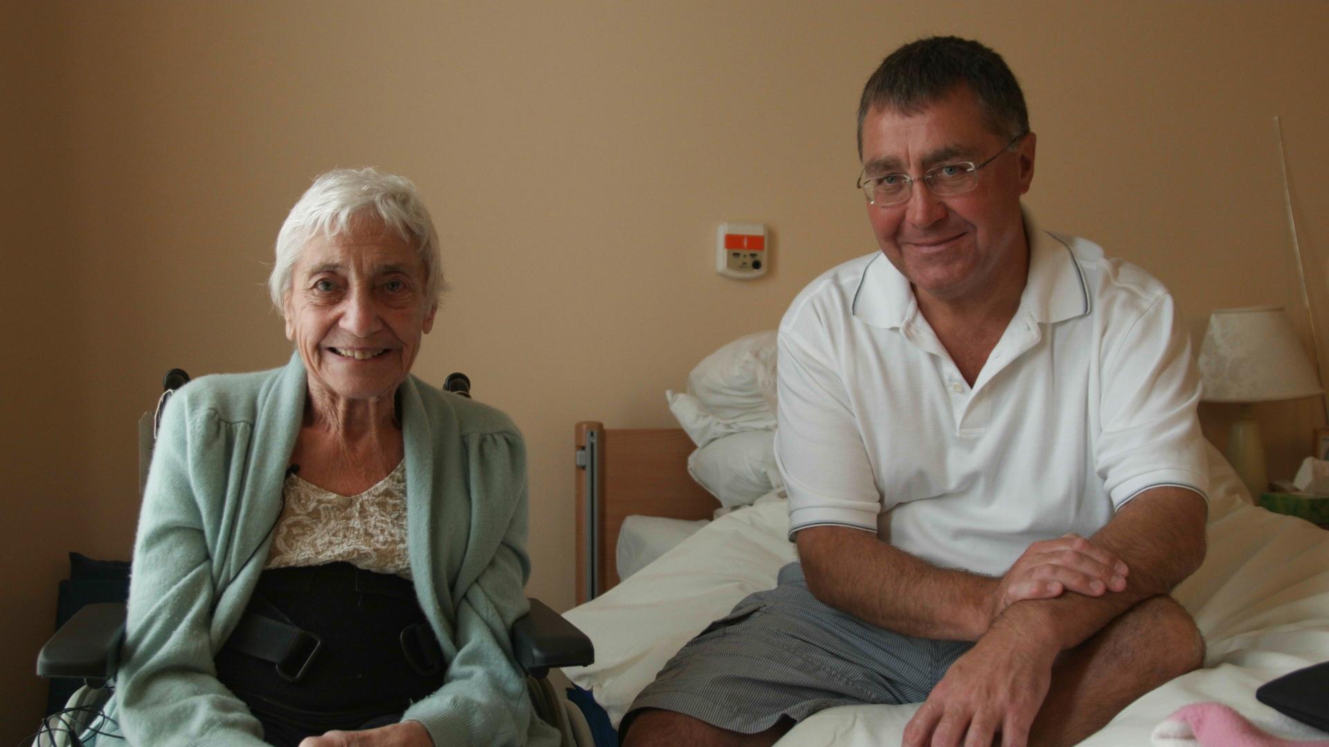 May Reid with her son Derek (Duncan Cowles)