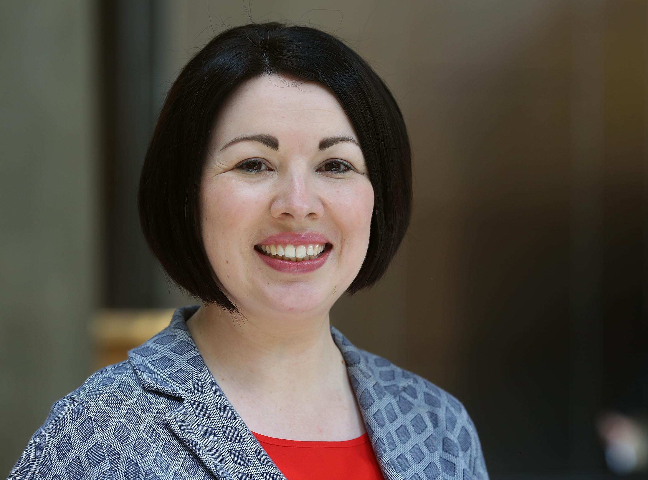 Monica Lennon MSP, Scottish Labour Party member (ALLAN MILLIGAN)
