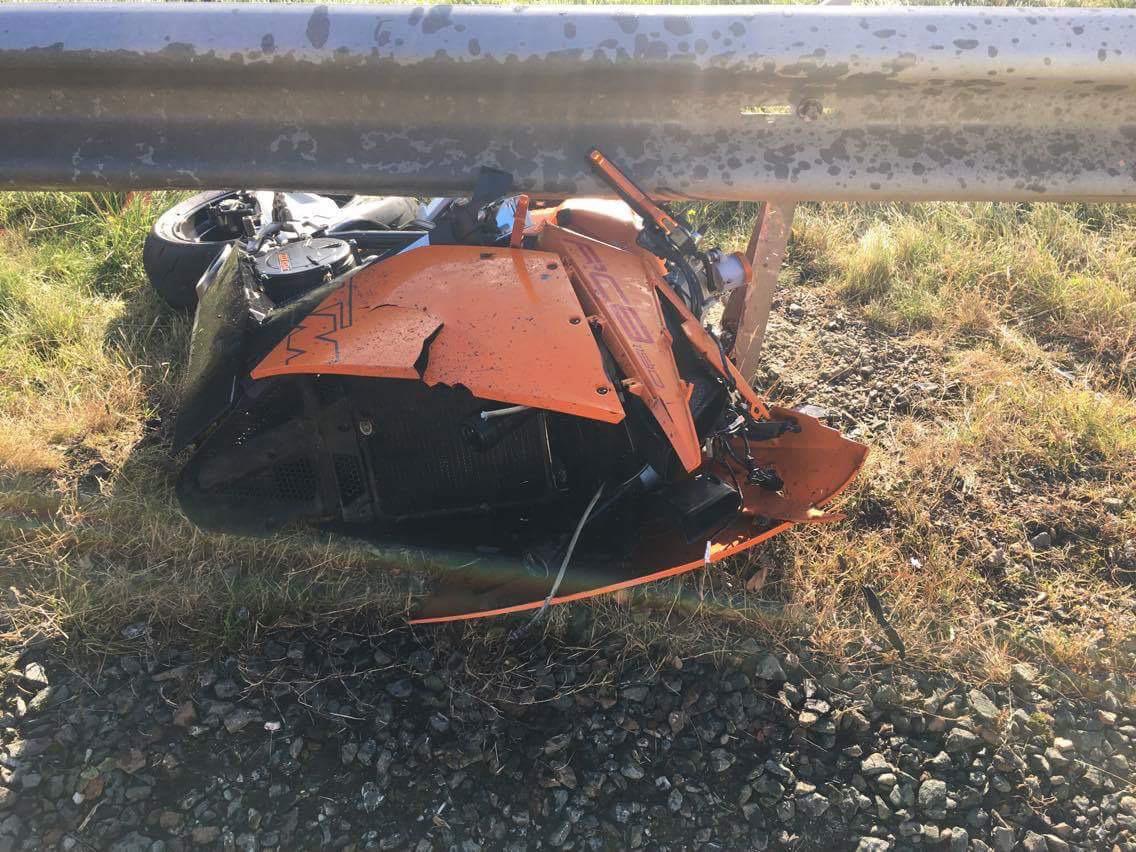 Mark Hepburn's accident scene