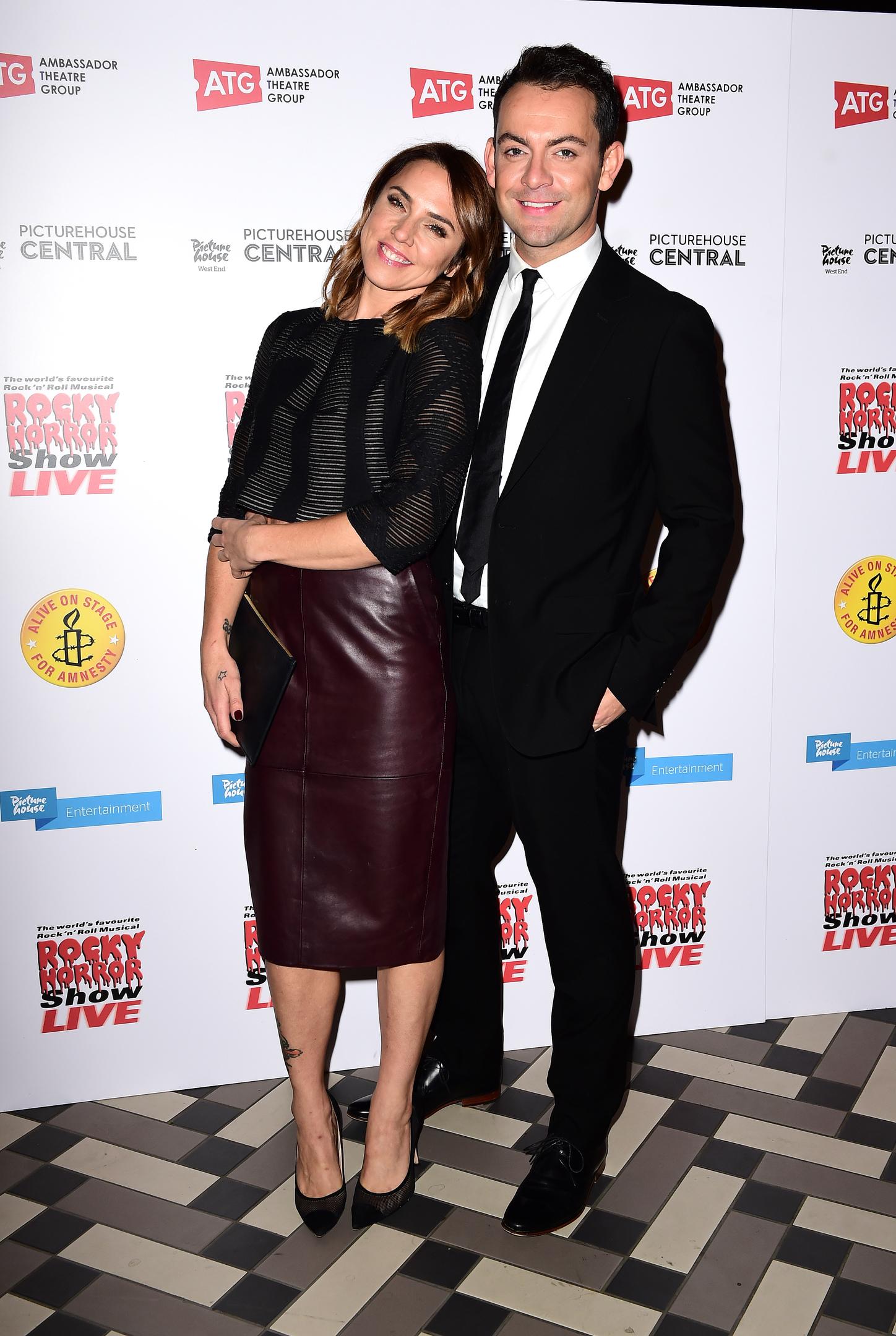 Melanie Chisholm (Mel C) and Ben Forster (PA)