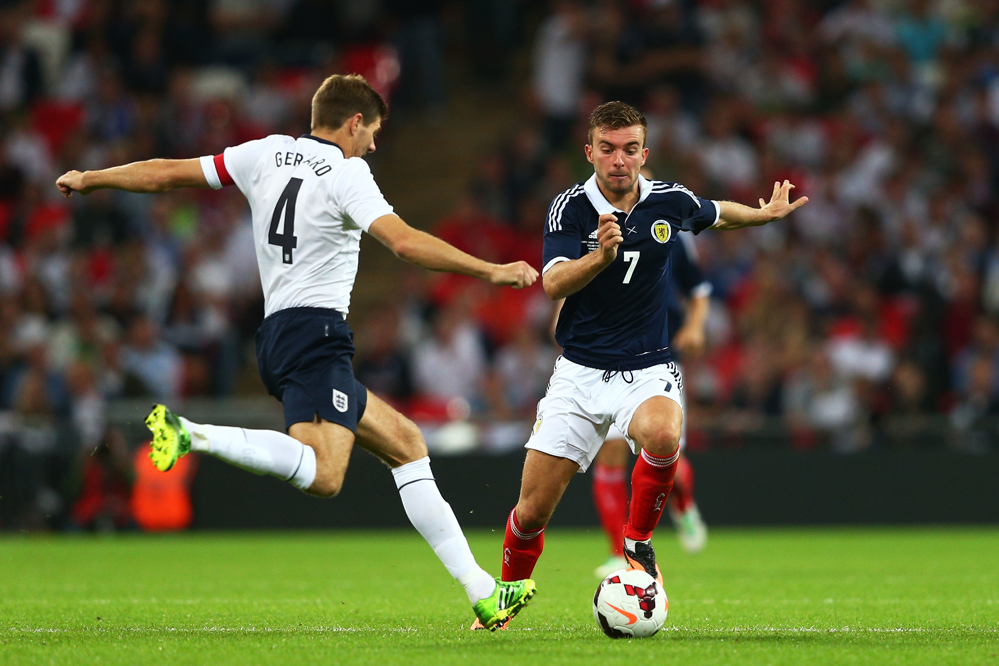 James Morrison in action against England, 2013 (Clive Mason/Getty Images)