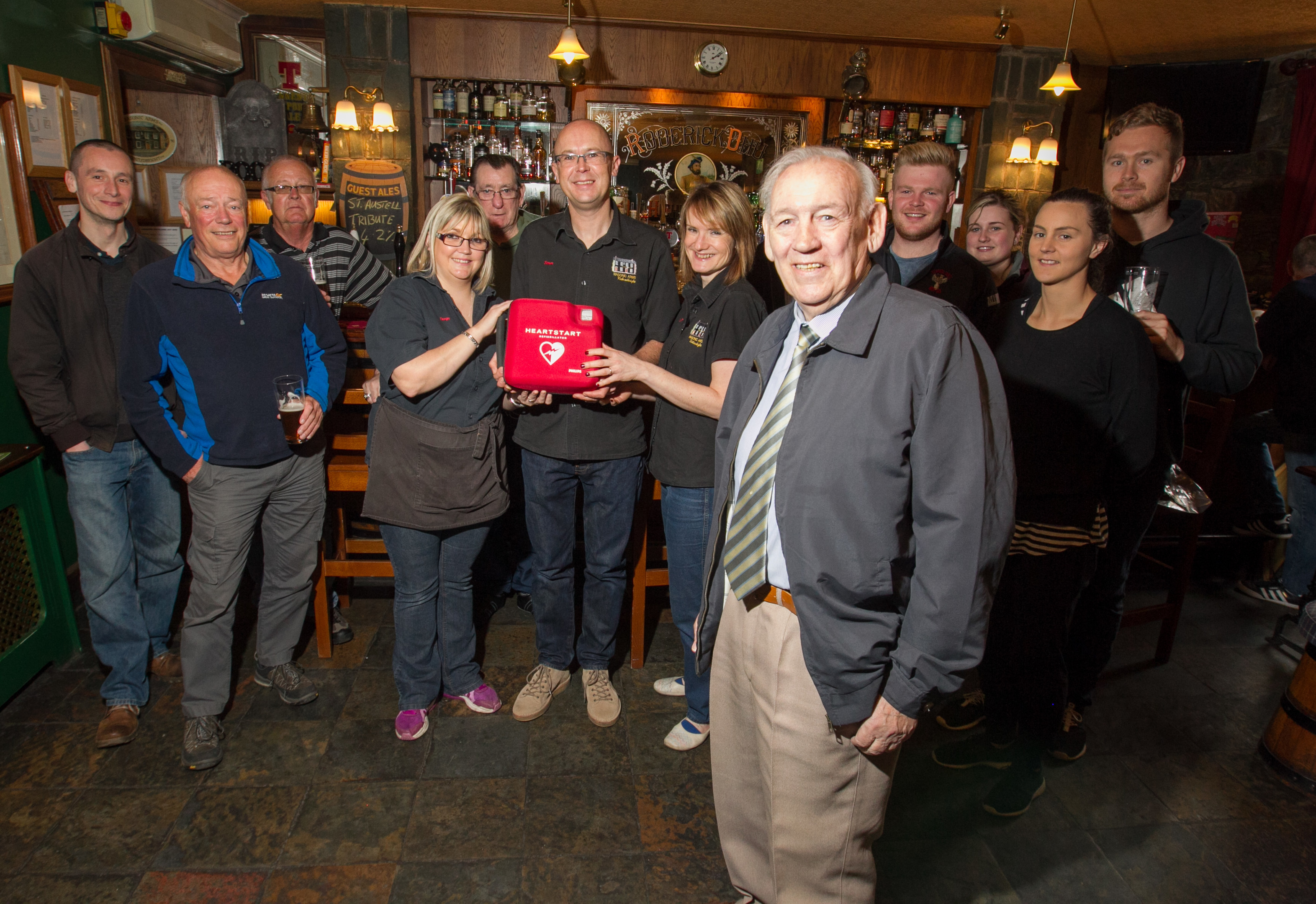 John McFarlane was saved by quick thinking staff at the Masonic Arms (Chris Austin / DC Thomson)