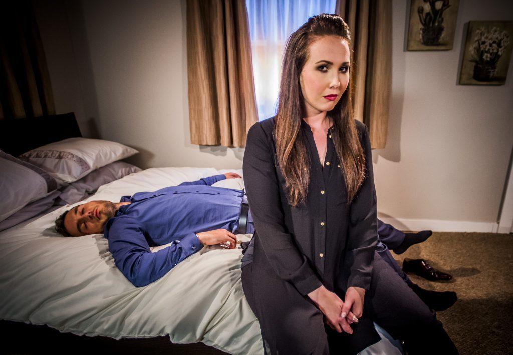 Rebecca as Belinda (Alan Peebles / BBC Scotland)