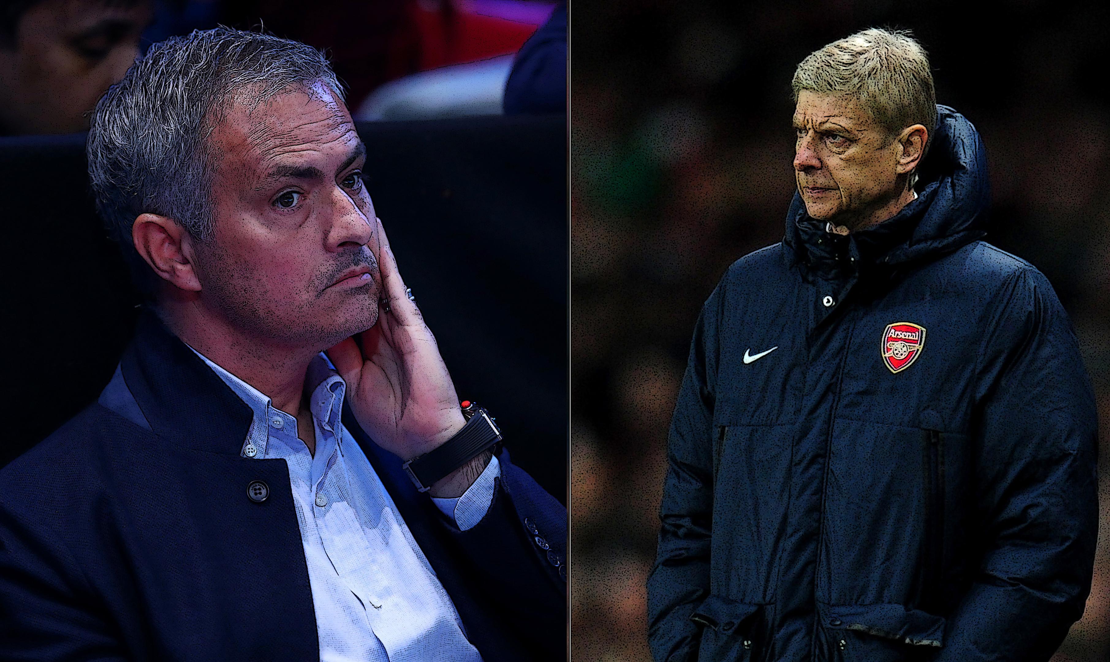 Mourinho (left) and Wenger (Shaun Botterill &Clive Brunskill/Getty Images)