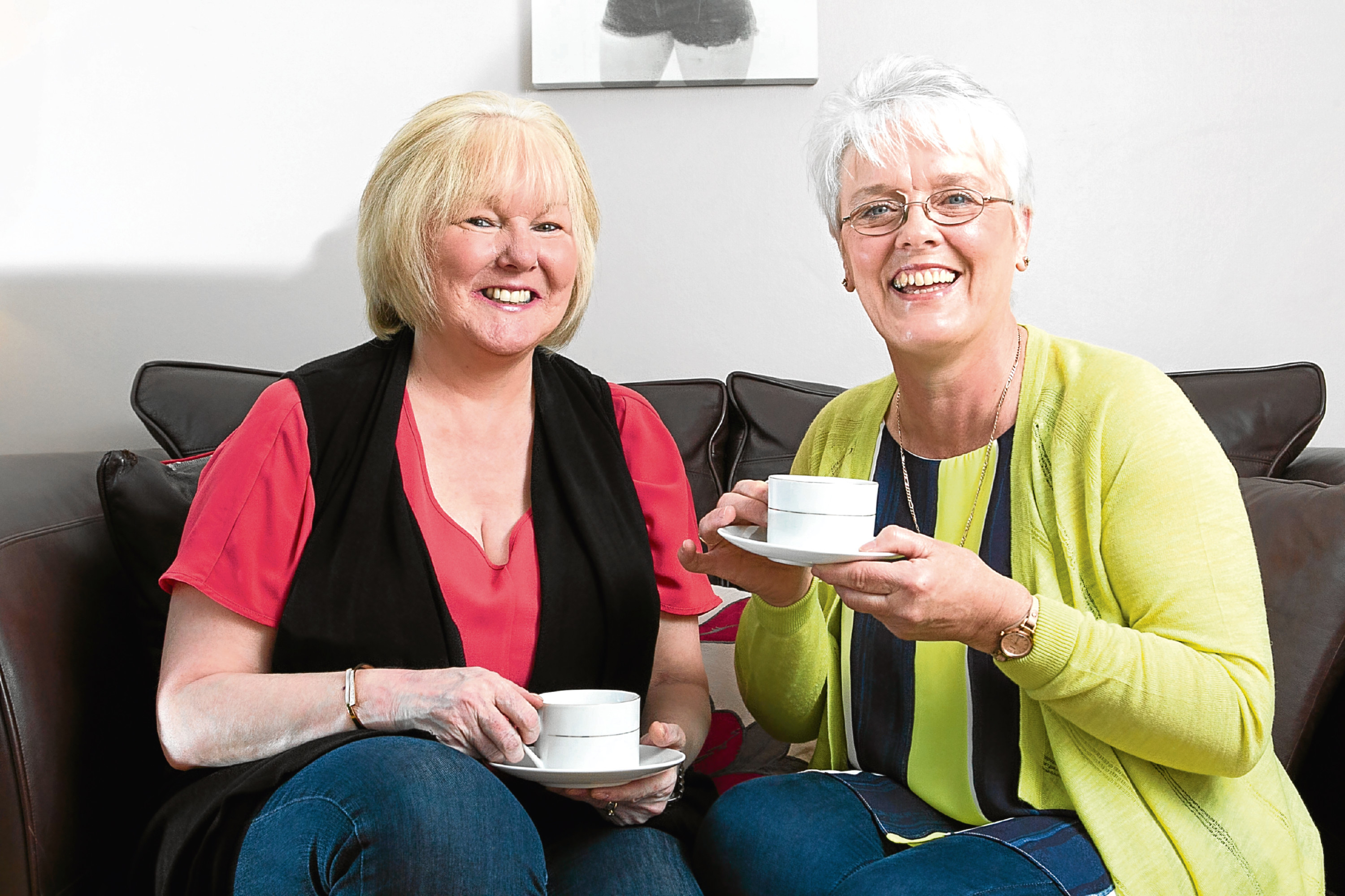 (L-R): Linda Thirlwell and Joy Wilson, best friends, who went to school together, and who have both had to battle cancer, but have supported each other through it (Andrew Cawley/ Sunday Post)