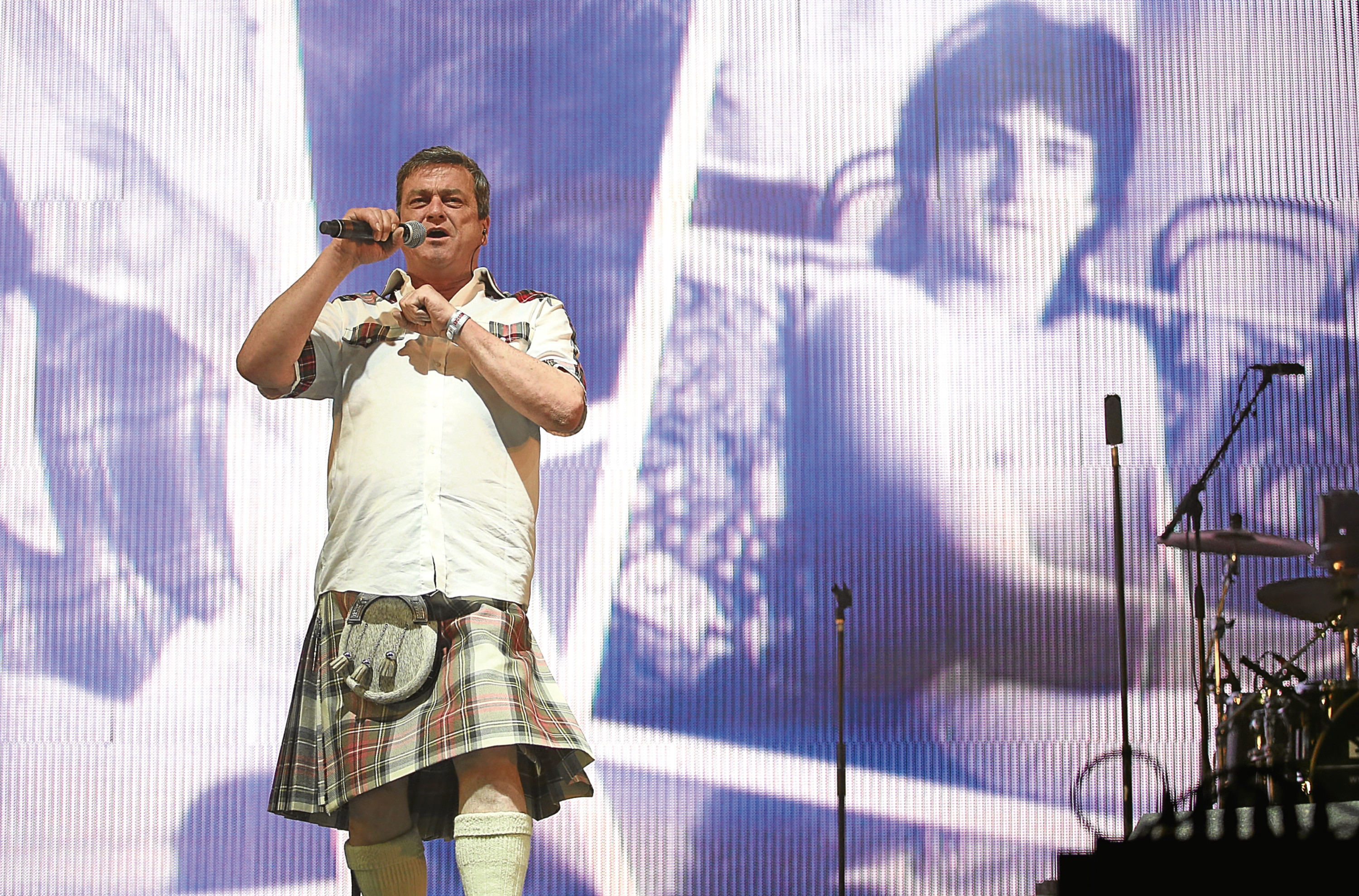Les McKeown of the Bay City Rollers at T in the Park (Jane Barlow / PA Wire)