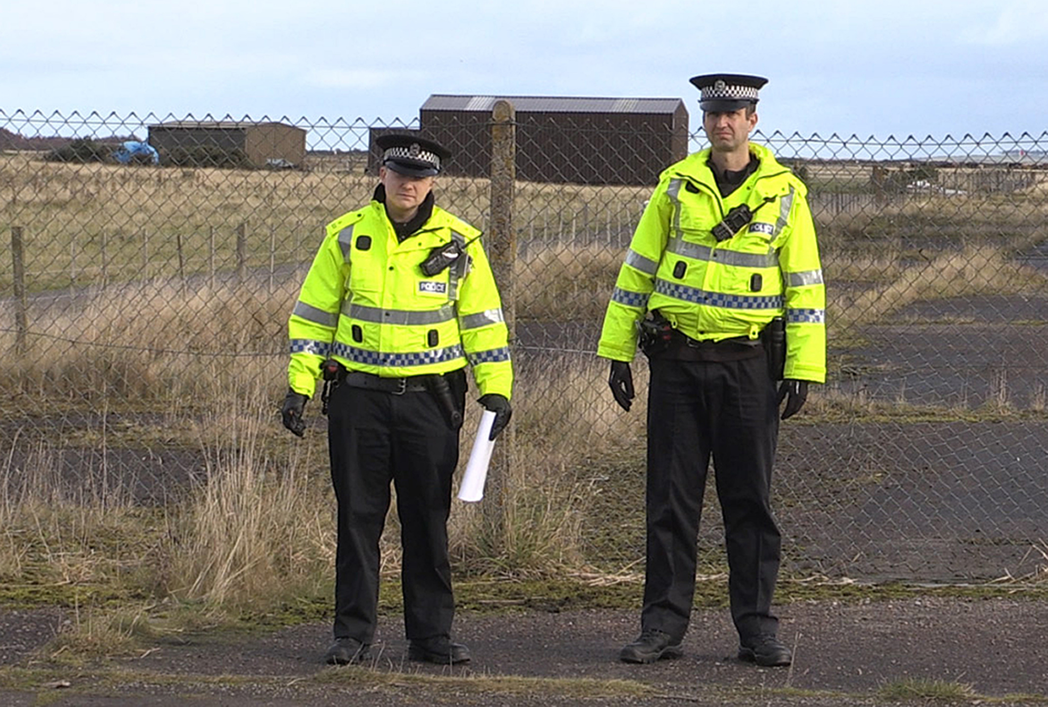 Police at RAF Tain, (Ben Philip/PA Wire)