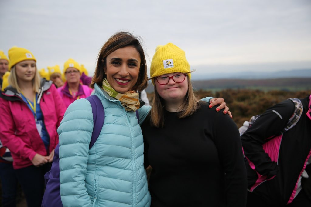 Anita and 15-year-old Olivia on the Countryfile Ramble (BBC)