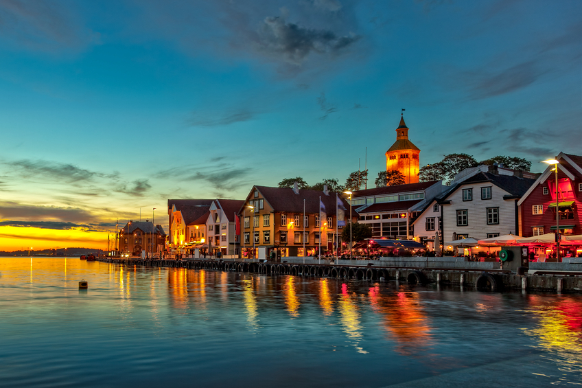 Stavanger at night - Charming town in the Norway (Getty)