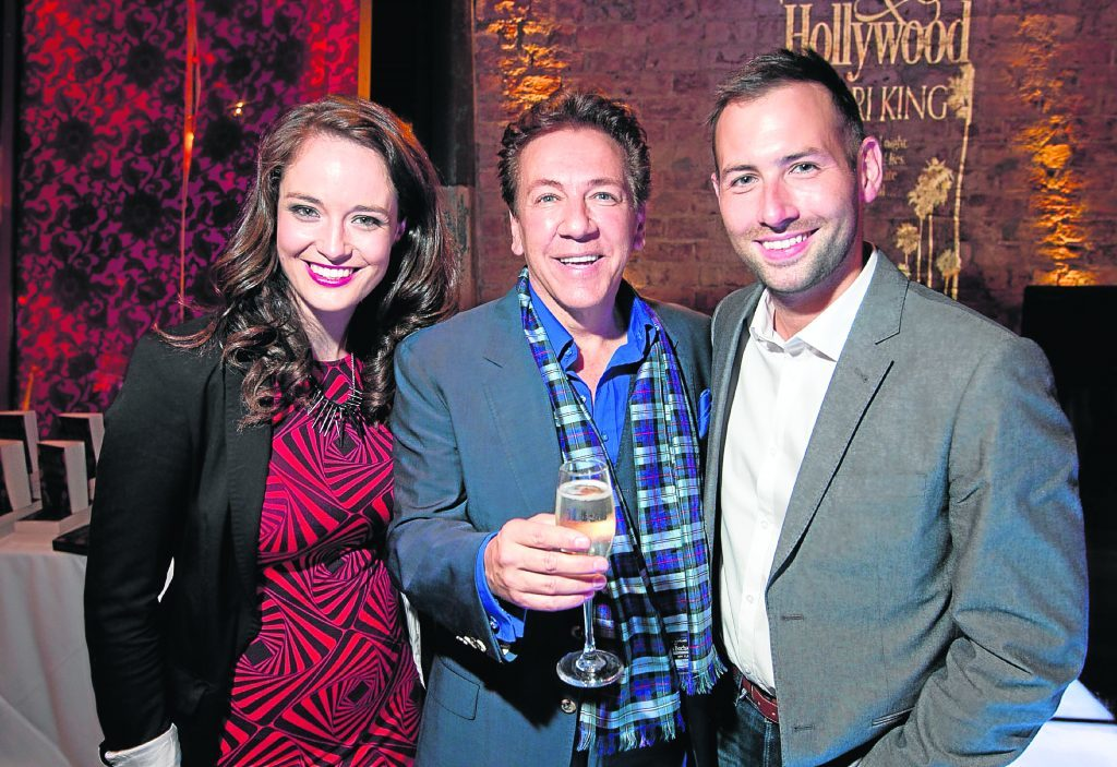 TV presenters Jennifer Reoch and David Farrell with Ross King (centre) (Andrew Cawley / DC Thomson)