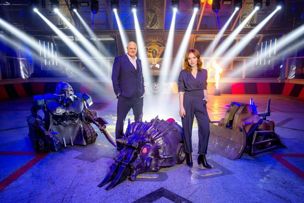 Hosts Dara O Briain and Angela Scanlon (Mentorn Media / Alan Peebles)