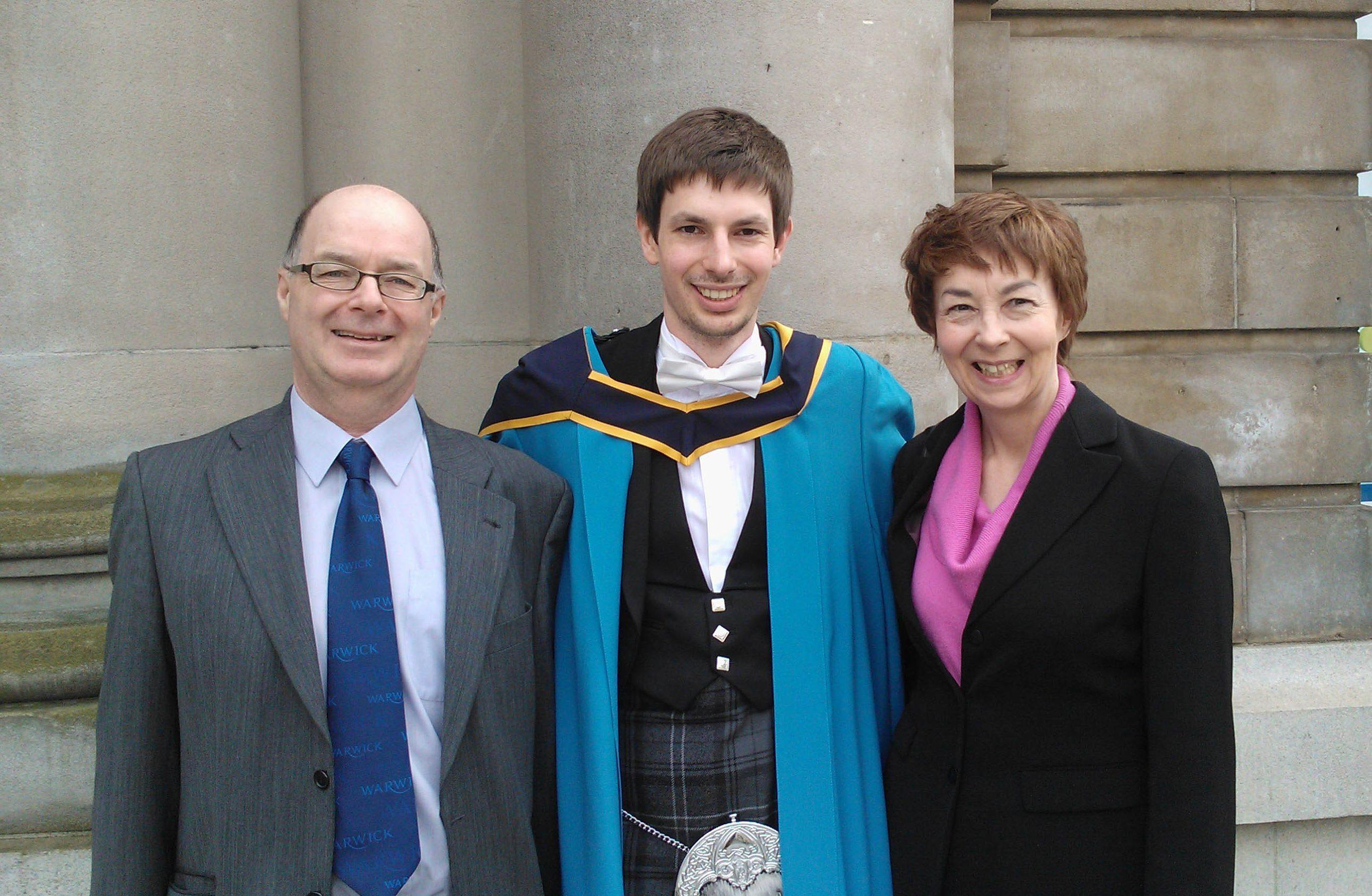 John Jennings with mum Carol and dad Stuart