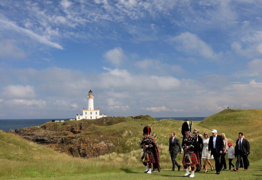 Donald Trump visits his Turnberry course last year (David Cannon/Getty Images)