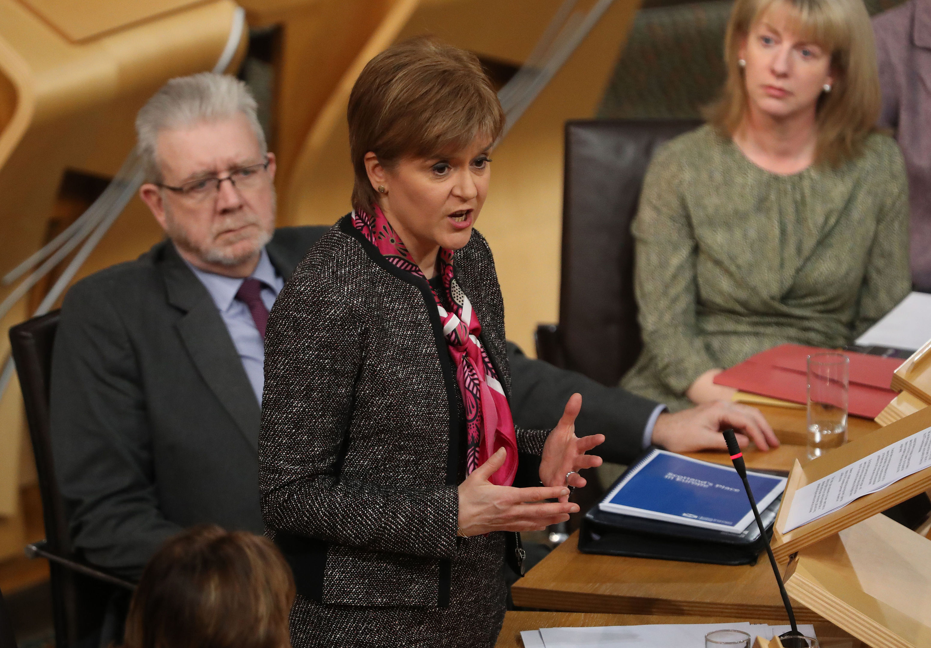 First Minister Nicola Sturgeon gives a statement on the Scottish Government's position on Brexit (Andrew Milligan/PA Wire)