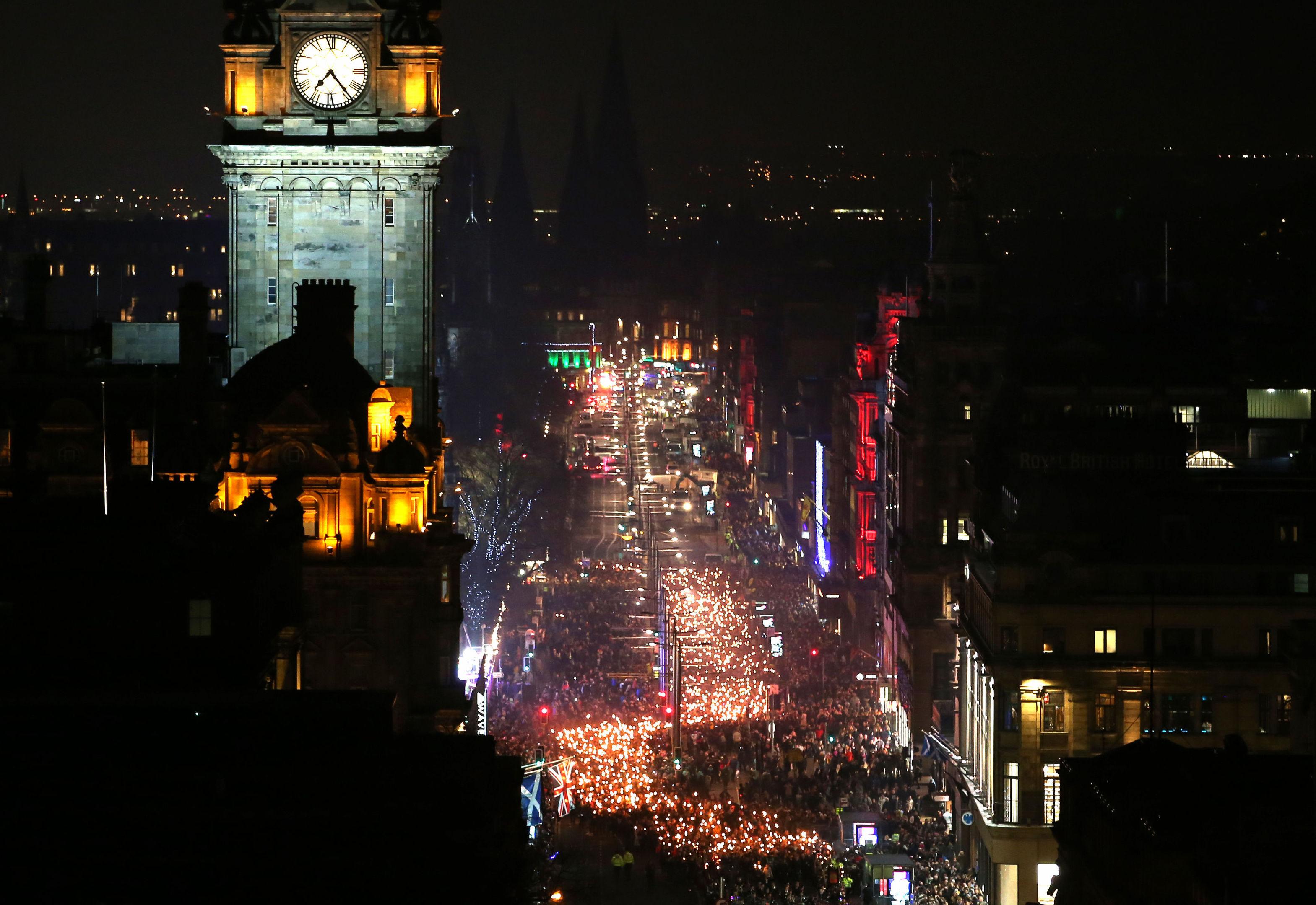 Edinburgh's Hogmanay. (Jane Barlow/PA Wire)