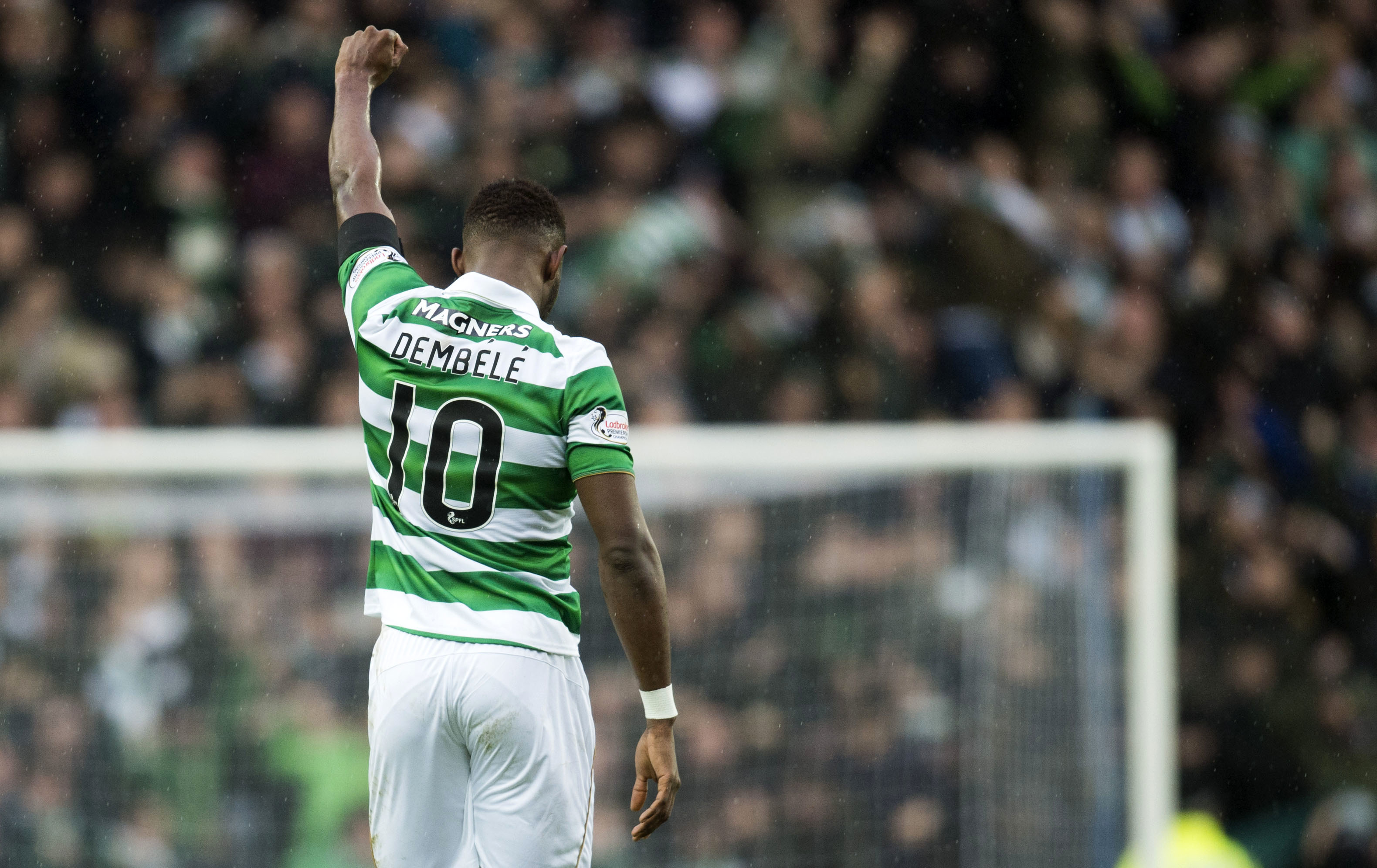 Celtic's Moussa Dembele celebrates his goal (SNS Group)