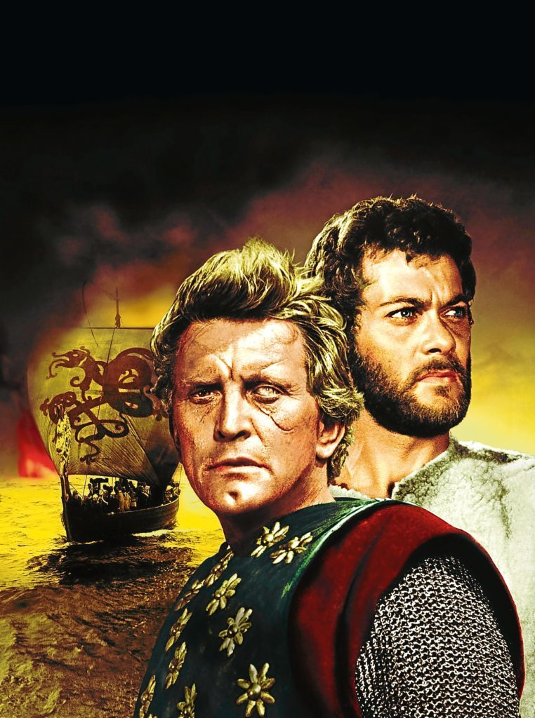 With Tony Curtis in The Vikings, 1958  (Allstar/UNITED ARTISTS)