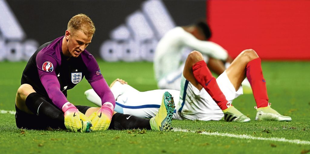 Dejection for England after defeat to Iceland (Lars Baron/Getty Images)