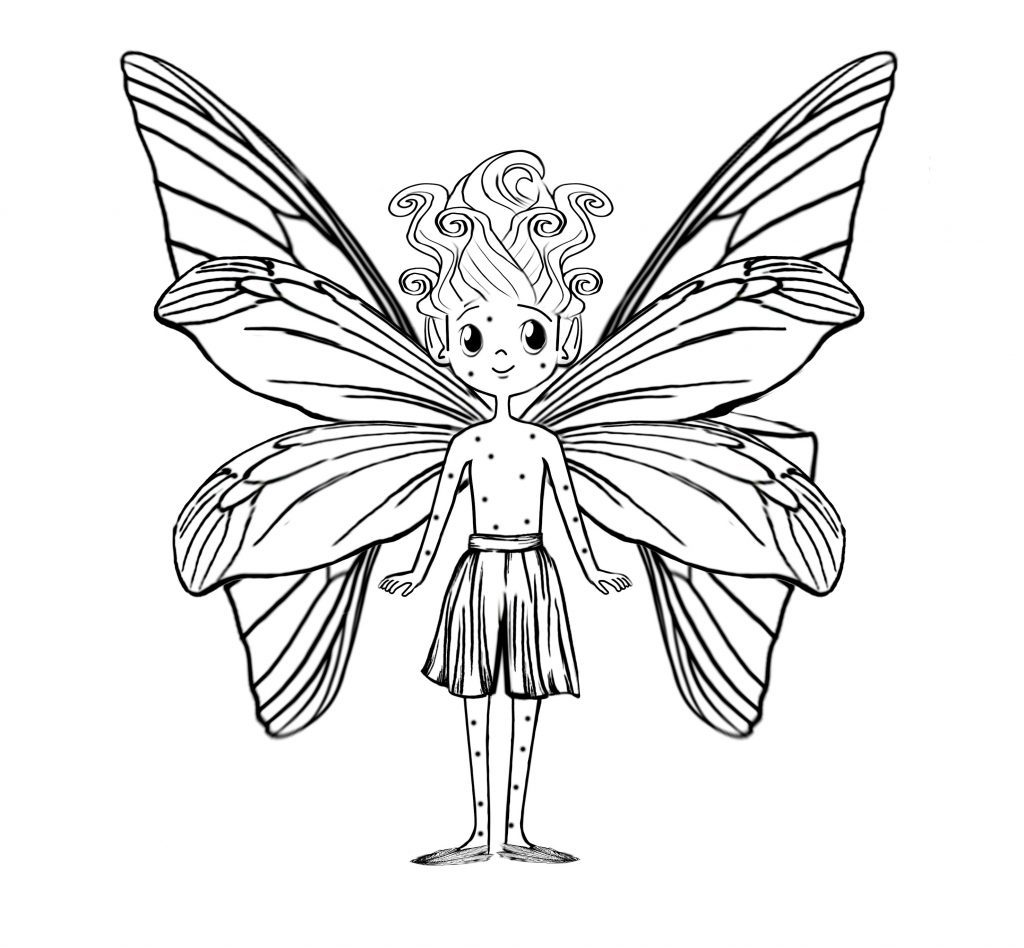 Blade the Flower Nymph, from the Thumble Tumble books written by Angela