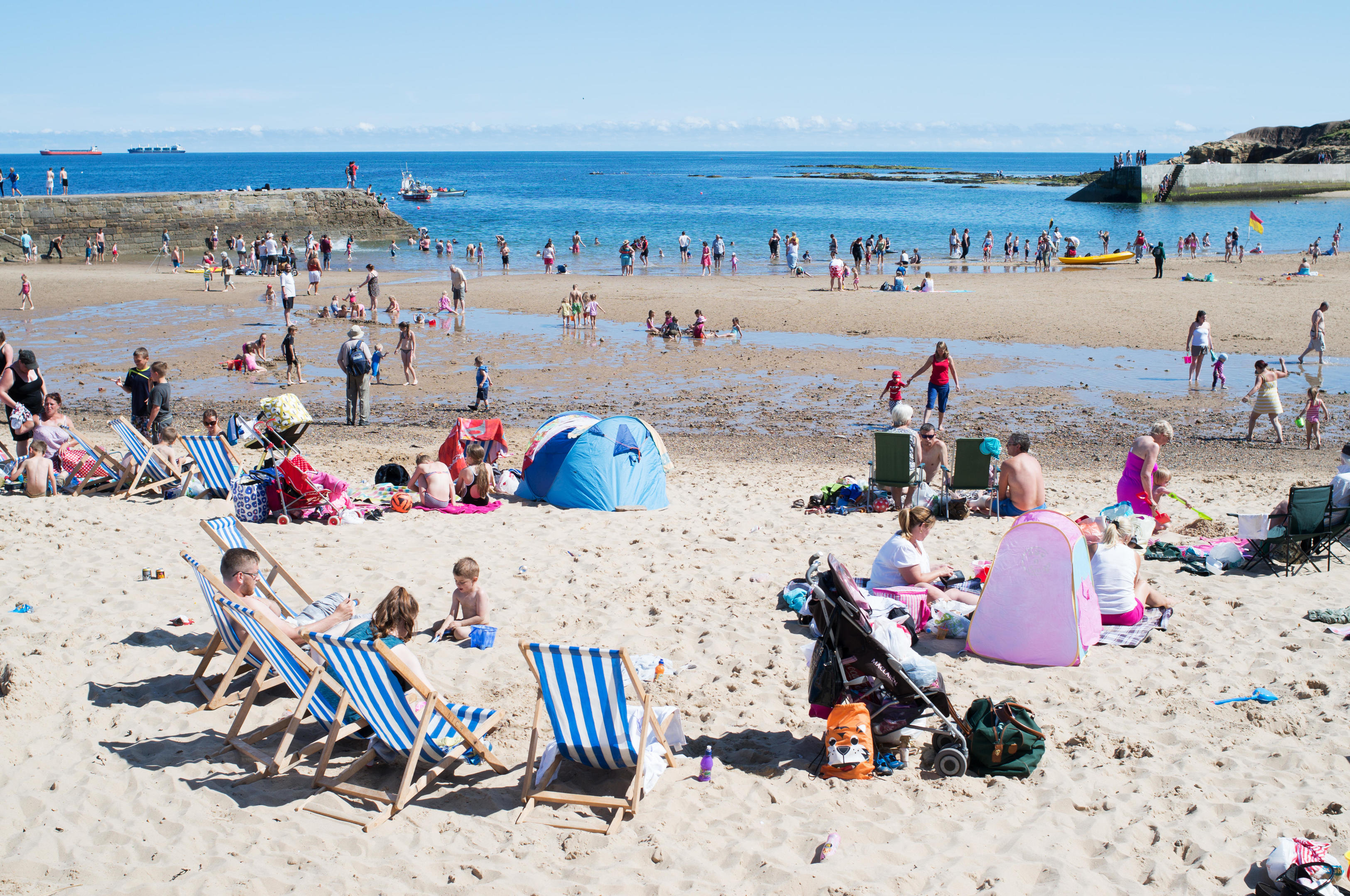 People across the UK flocked to beaches as the mercury rose this summer