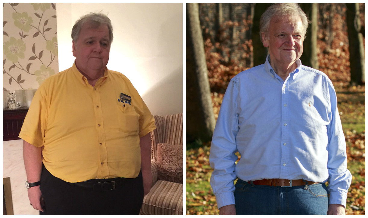Murray Seaton before and after his weight loss (Alan Simpson Photography)